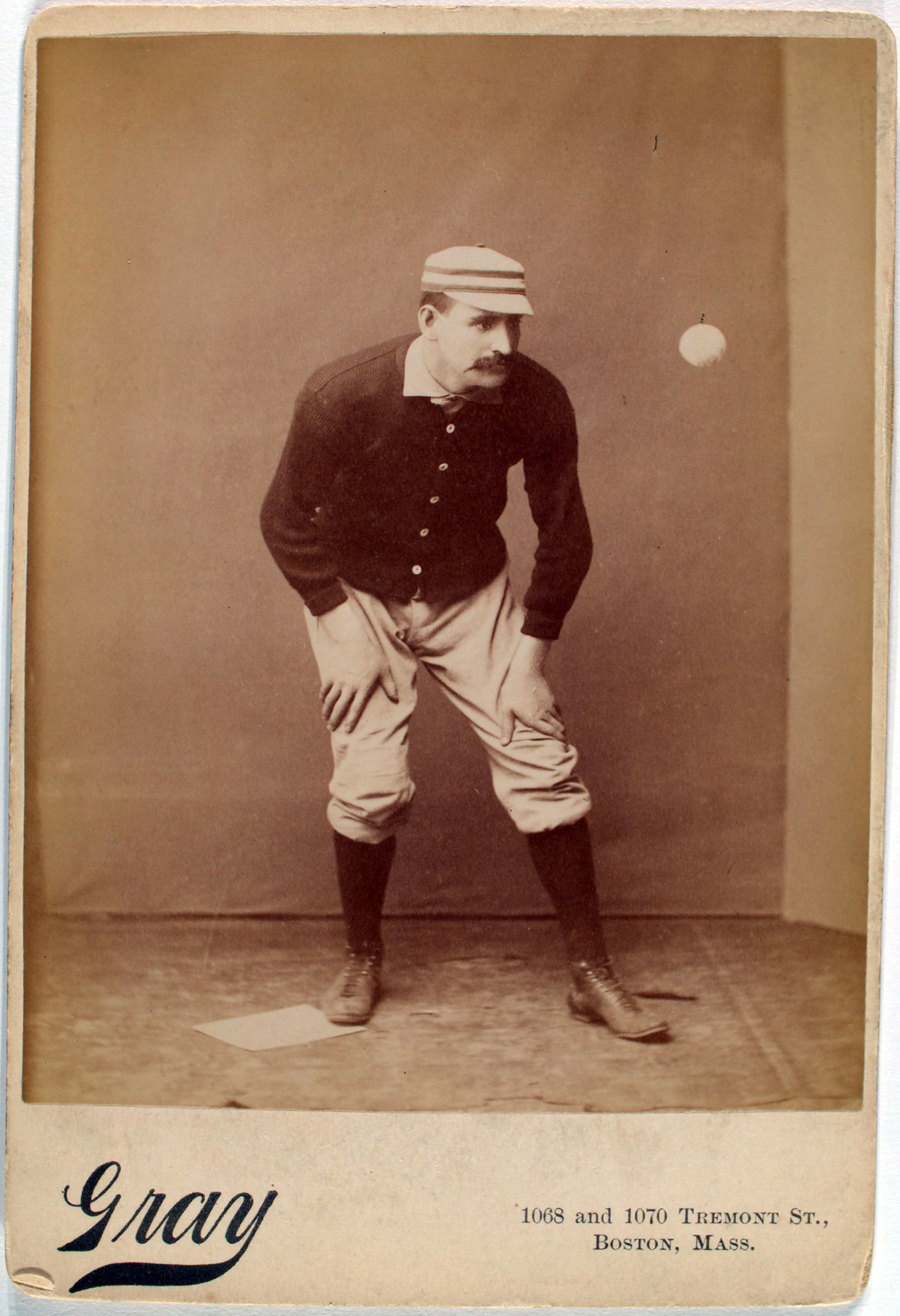 Joe Mulvey, baseball infielder in Boston. From the A. G. Spalding Baseball Collection.