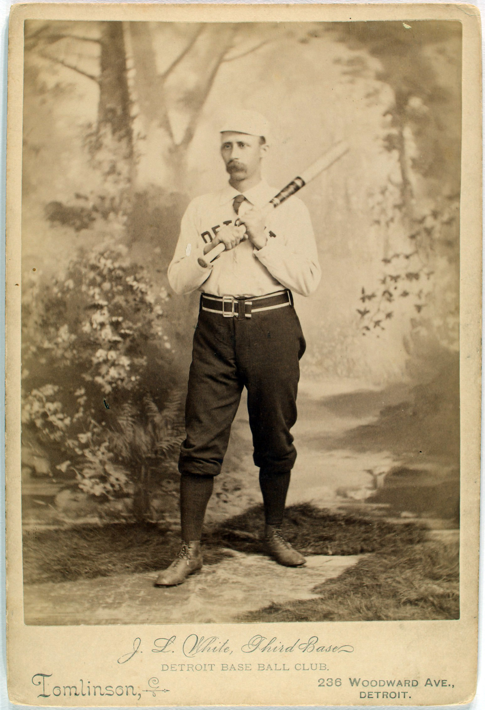 Deacon White, 3rd base for the Detroit Wolverines, 1888. From the A. G. Spalding Baseball Collection.