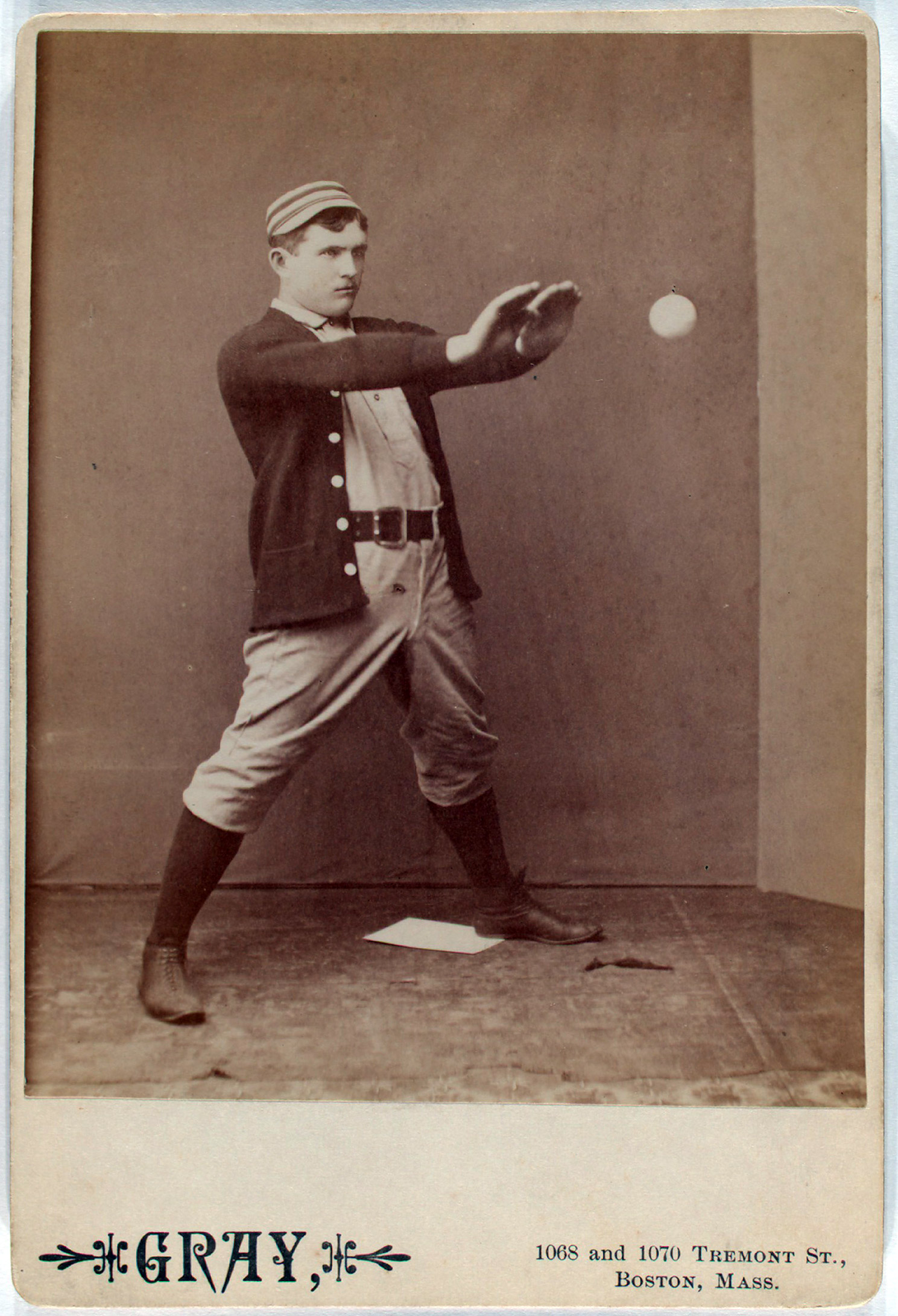 Jack Clements of the Philadelphia Quakers. From the A. G. Spalding Baseball Collection.