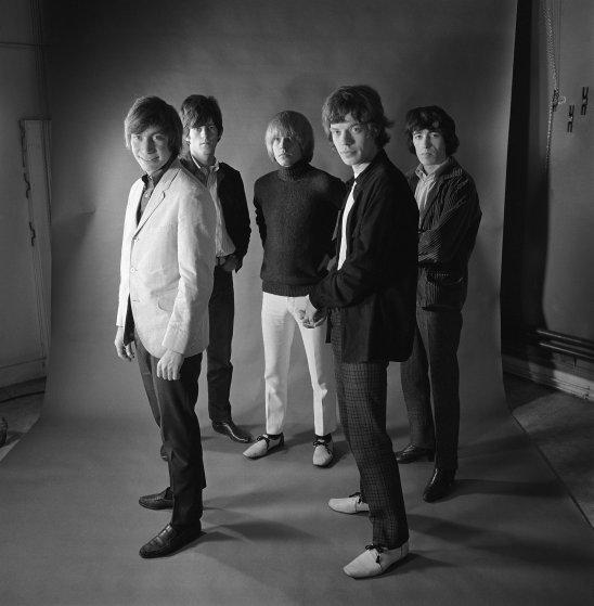 Studio portrait of The Rolling Stones, 1965.