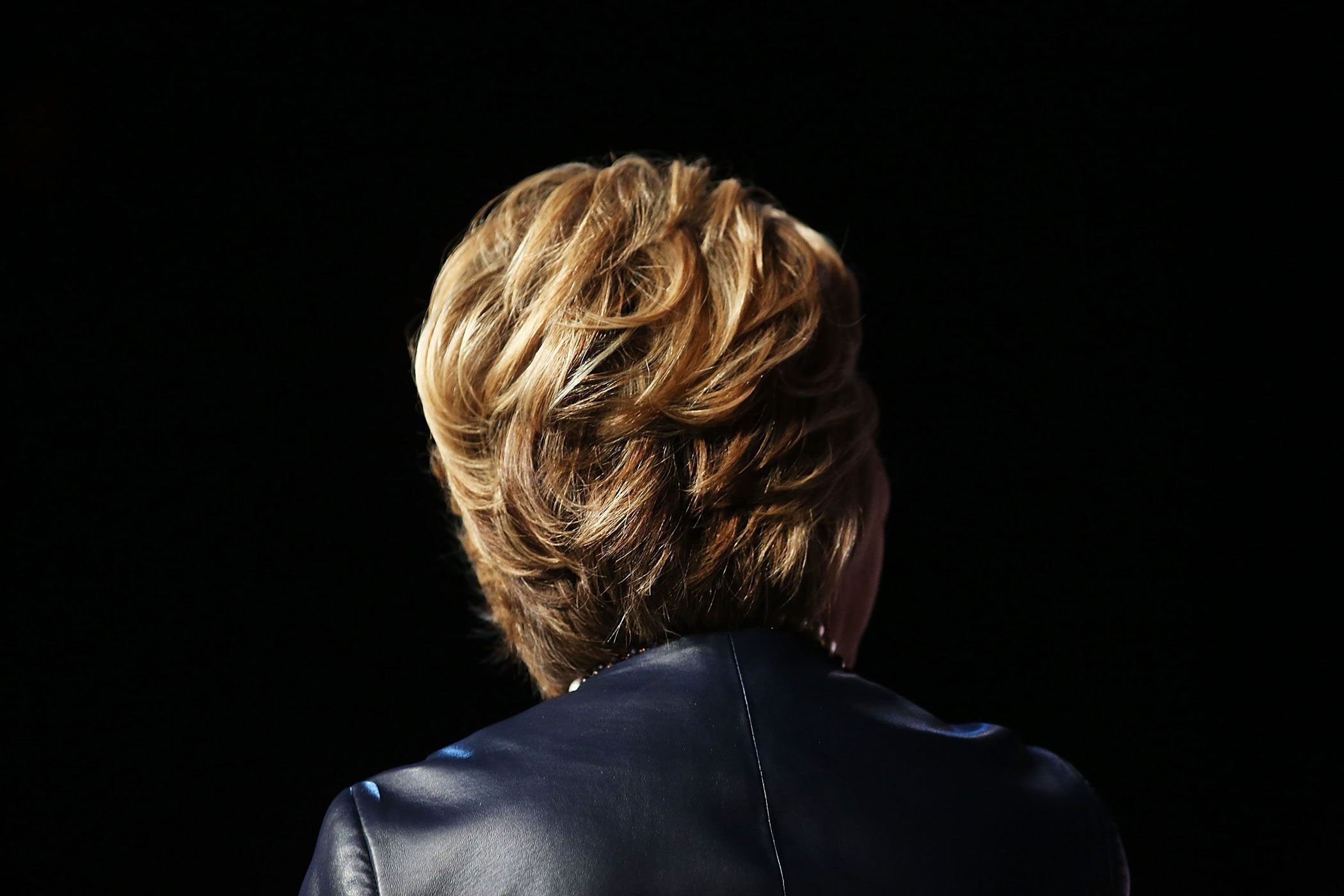 Hillary Clinton speaks on stage in Harlem at the Apollo Theater on March 30, 2016 in New York.