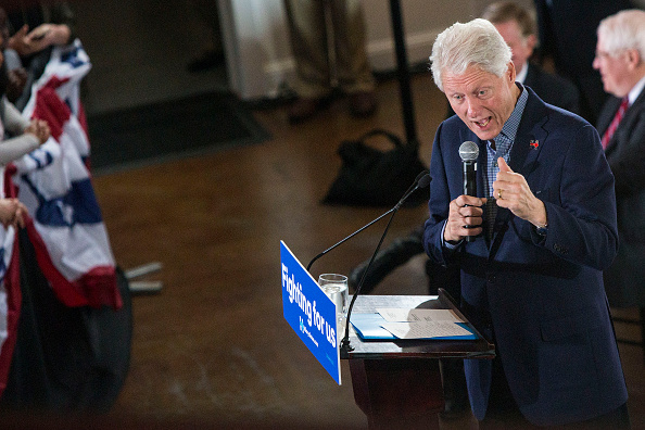 Former President Bill Clinton speaks to supporters in support of Democratic presidential candidate Hillary Clinton, at a Get Out the Vote event in Raleigh, N.C., on Monday, March 7, 2016. Al Drago—CQ-Roll Call,Inc.