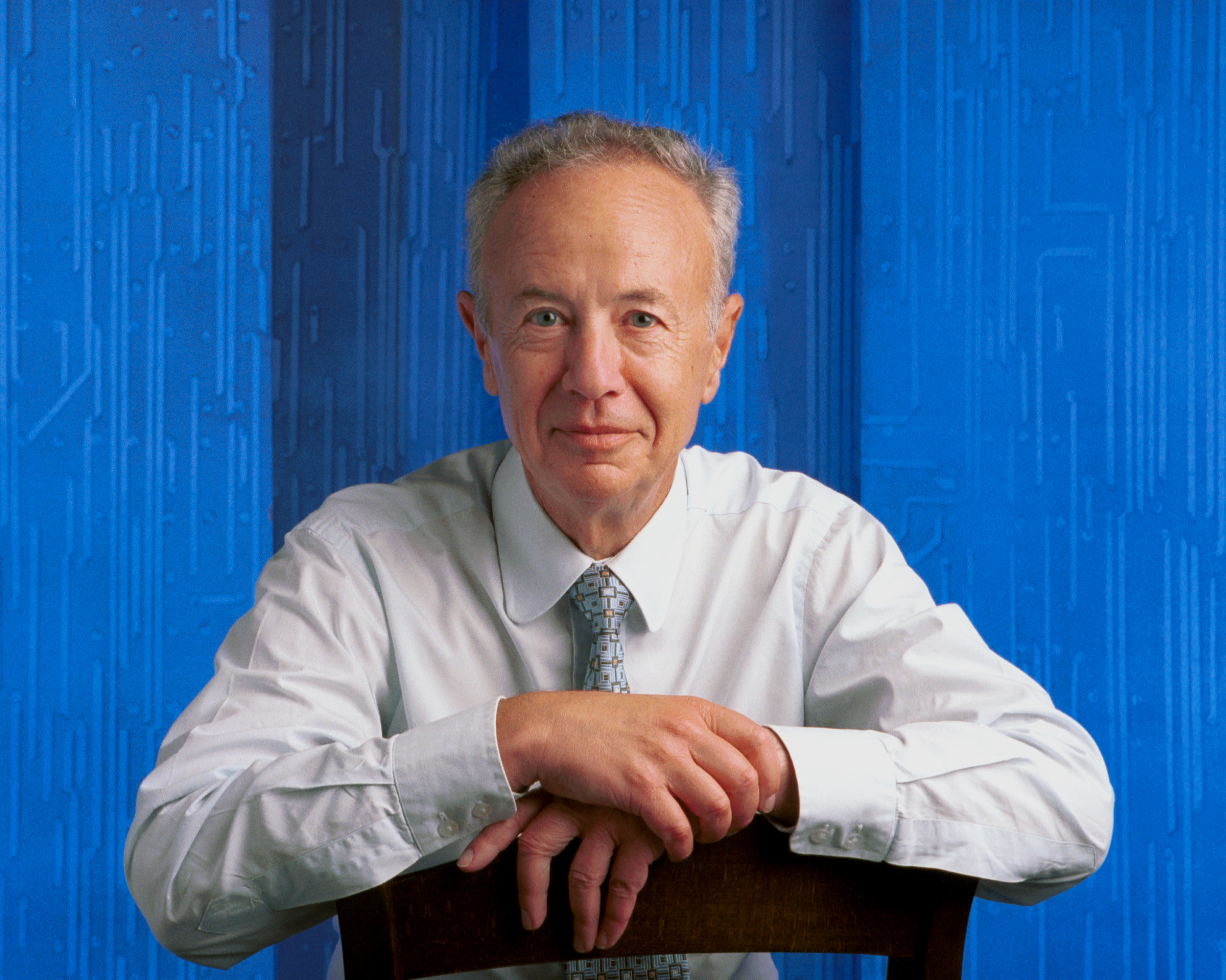 Ceo Of The Intel Corporation Andy Grove Poses For A Portrait June, 2000 In Palo Alto, California.