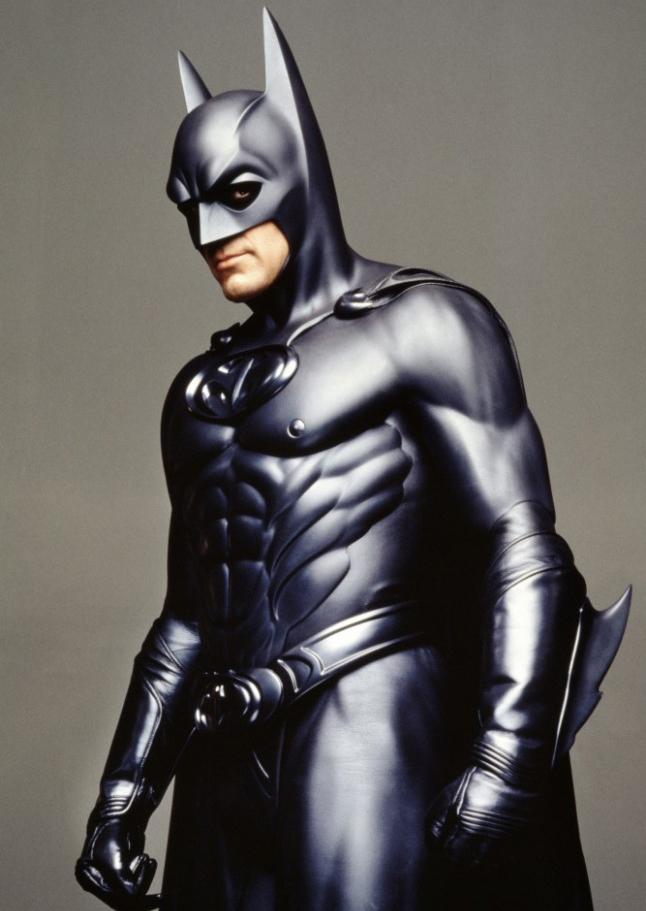 George Clooney in Batman & Robin in 1997.