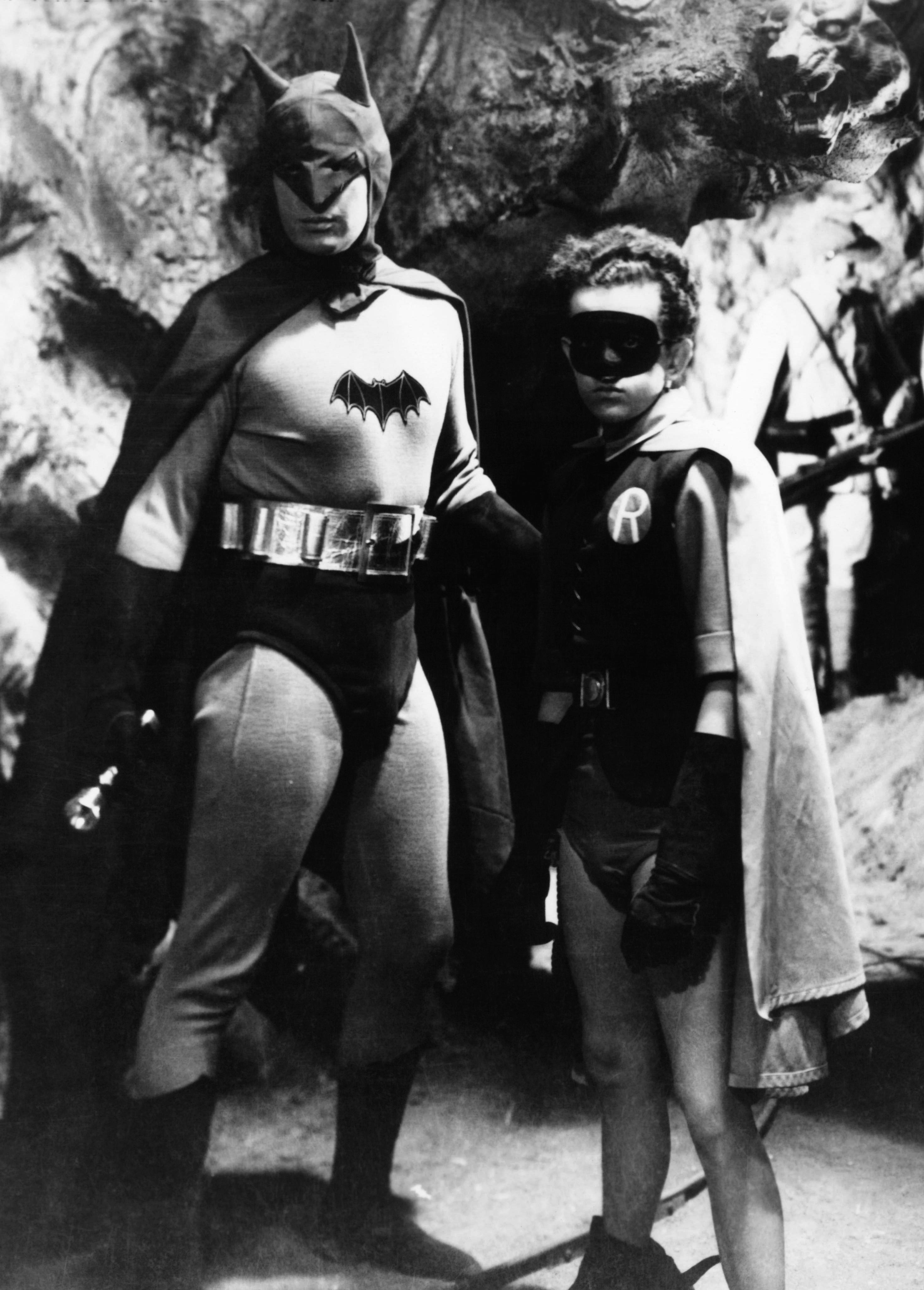 Lewis Wilson as Batman and Douglas Croft as Robin in Batman in 1943.