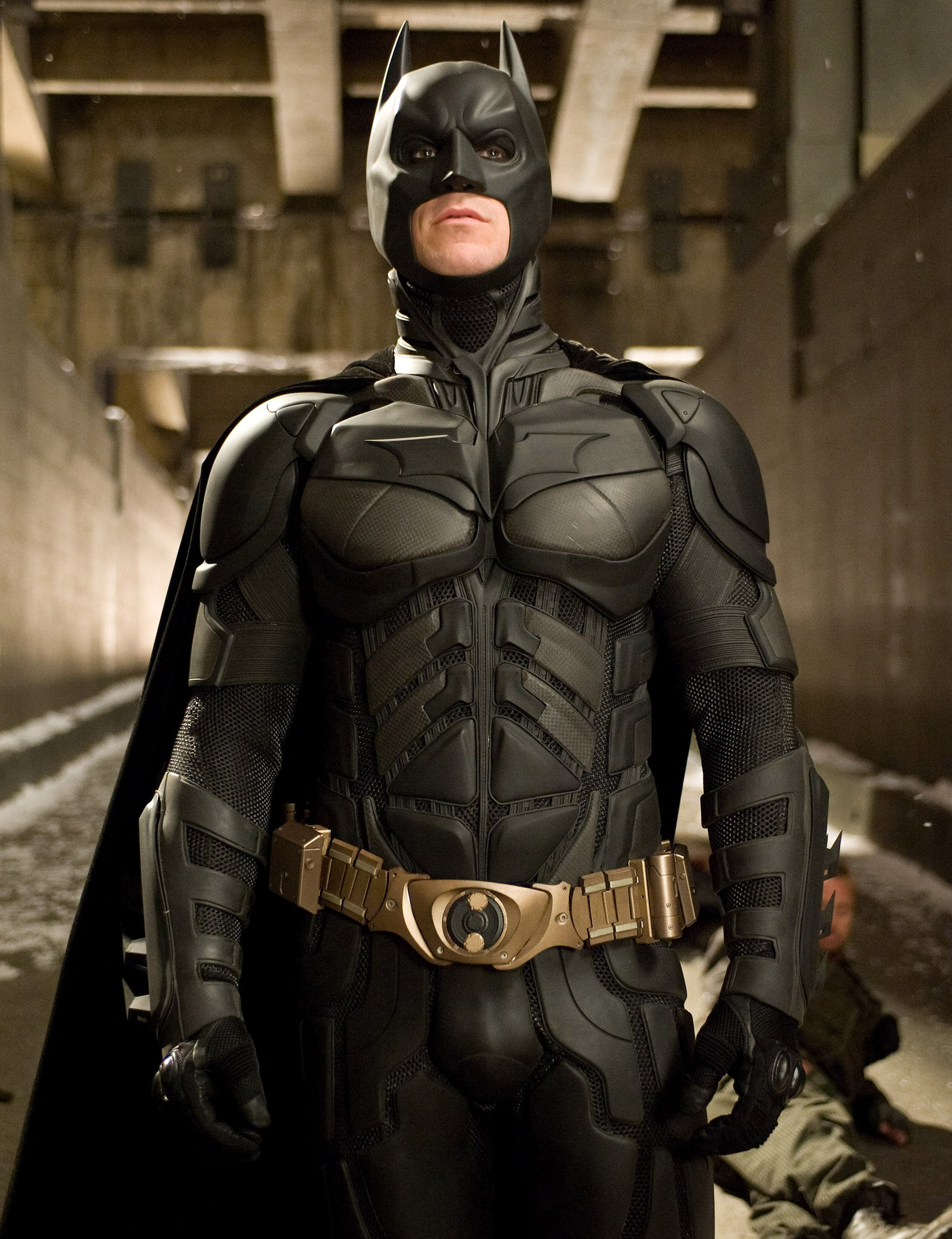 Christian Bale in The Dark Knight Rises in 2008.