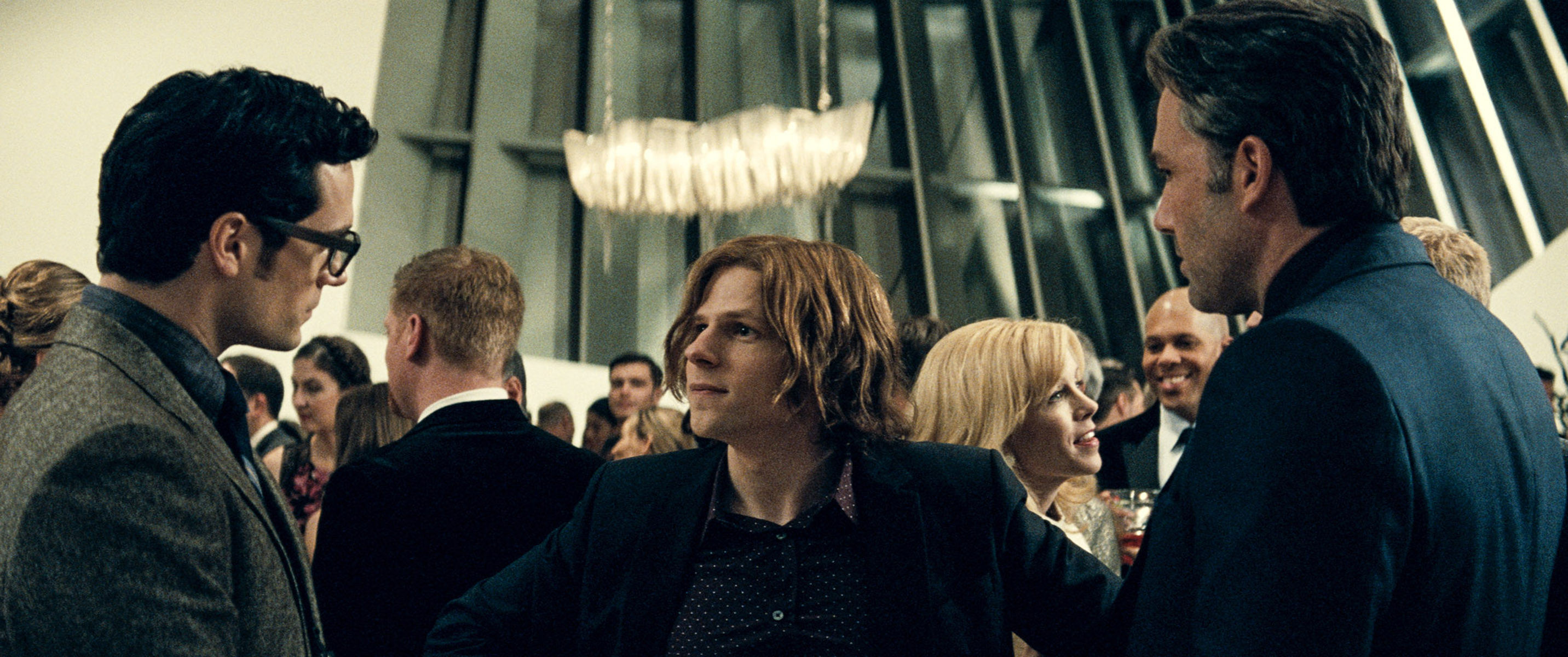 Jesse Eisenberg as Lex Luthor, center, in Batman v Superman: Dawn of Justice. Warner Bros.