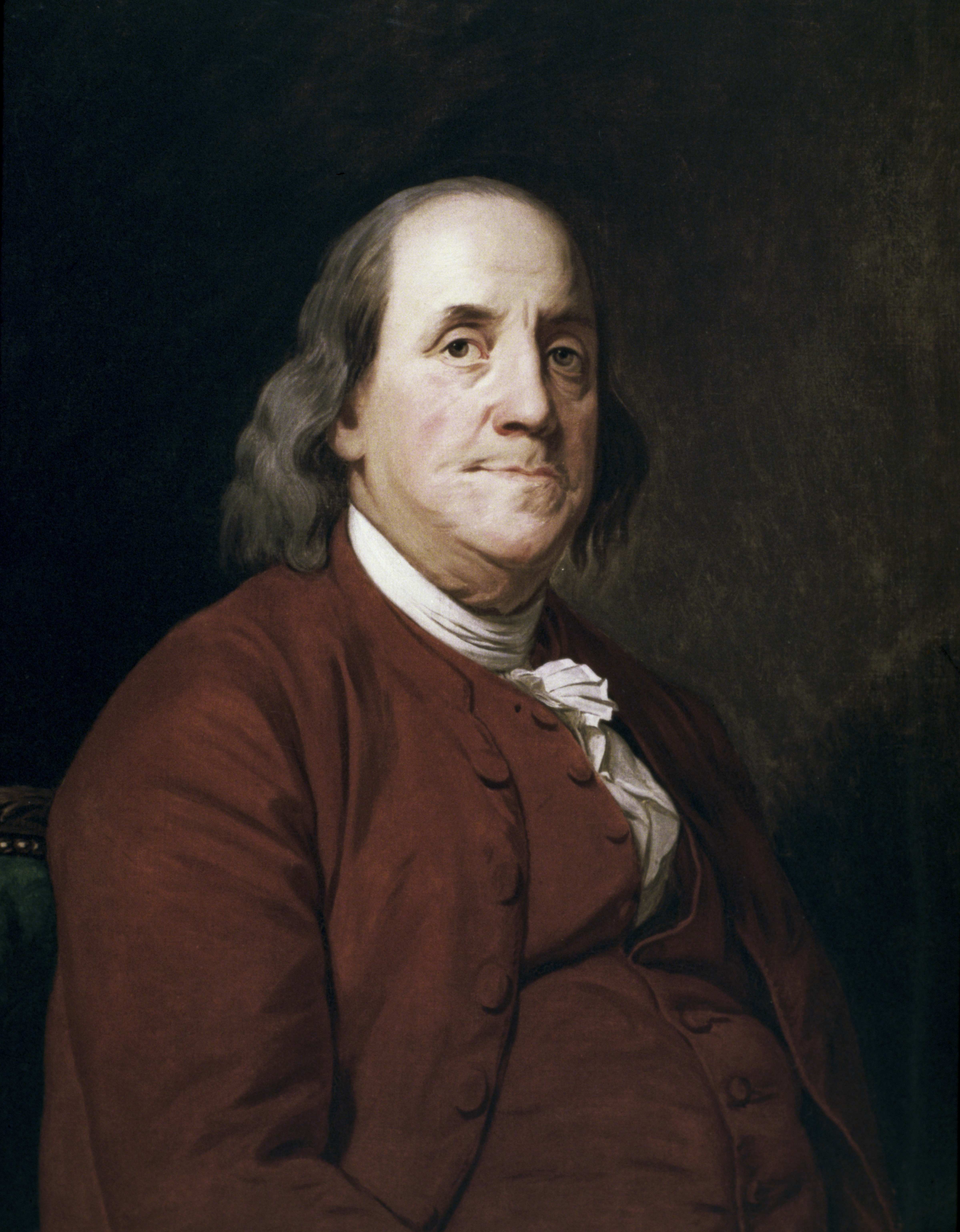 Portrait of Benjamin Franklin by Joseph Wright at Corcoran Gallery of Art in Washington, D.C.