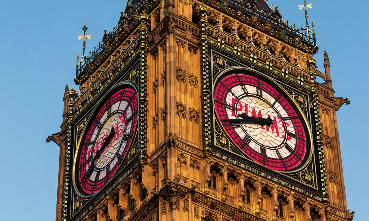 Pimm's unveils the result of an unprecedented sponsorship deal to display its logo on the clock face of Big Ben. Strictly Under Embargo to 00.01 1st April 2016