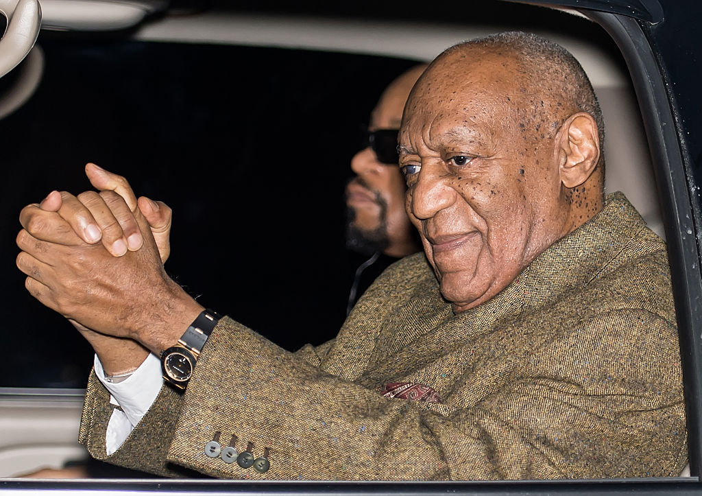 Bill Cosby is seen leaving the Montgomery County Courthouse on Feb. 2, 2016 in Norristown, Pennsylvania.