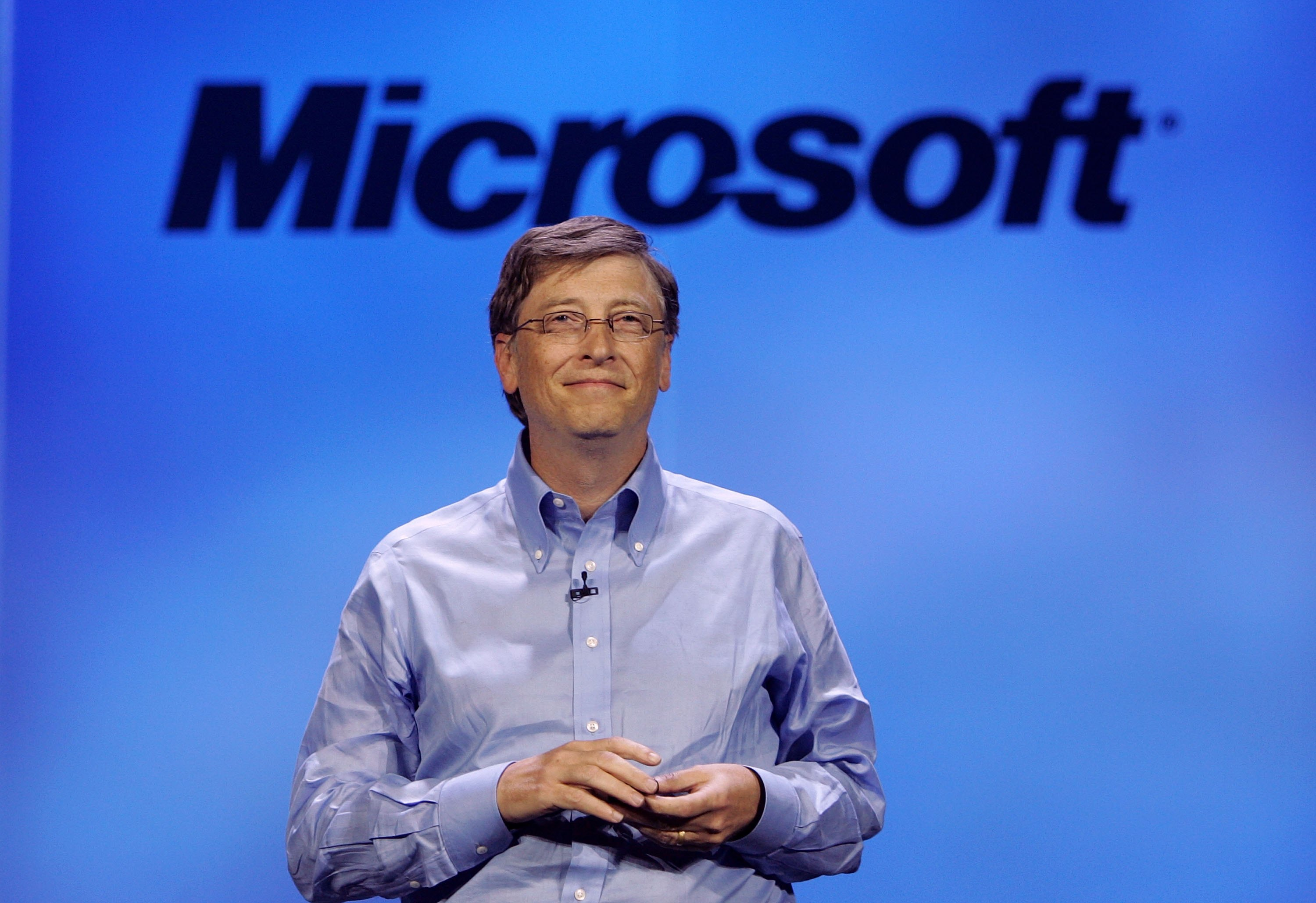 Microsoft chairman Bill Gates delivers a keynote address at the 40th annual Consumer Electronics Show (CES) convention January 7, 2007 in Las Vegas, Nevada.
