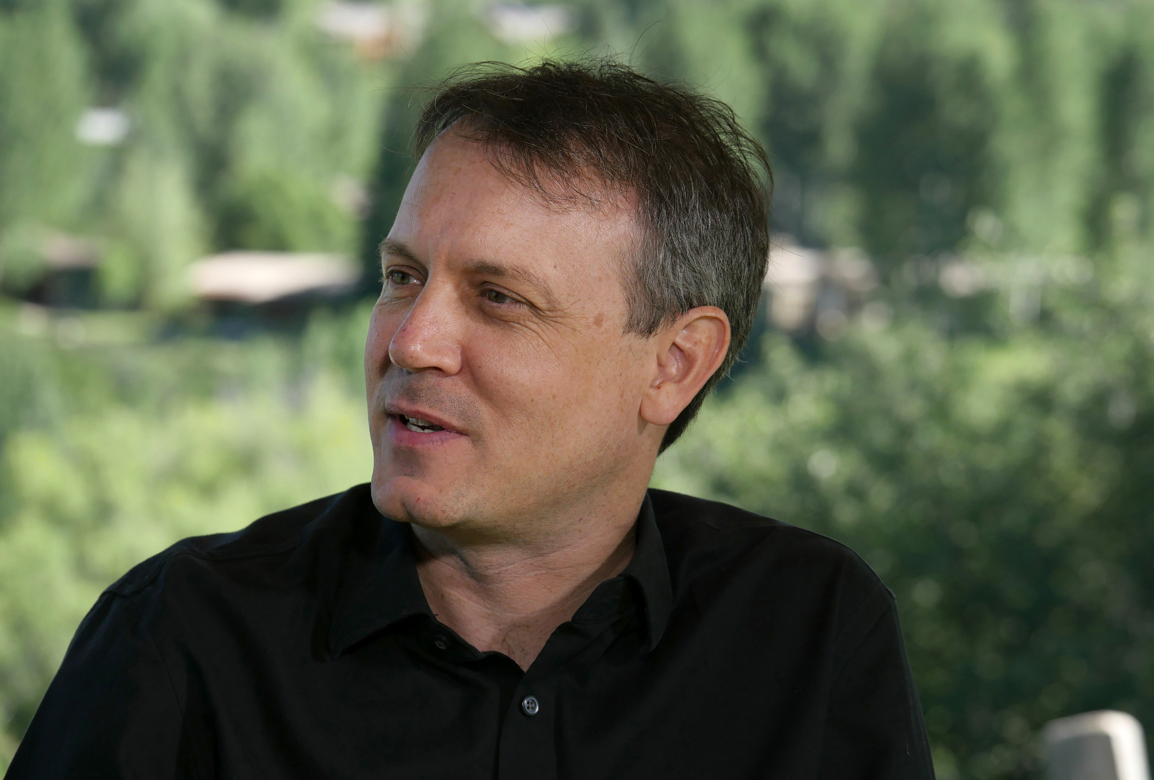 Brian Knappenberger speaks during a Bloomberg Television interview in Aspen, CO, on July 1, 2014.