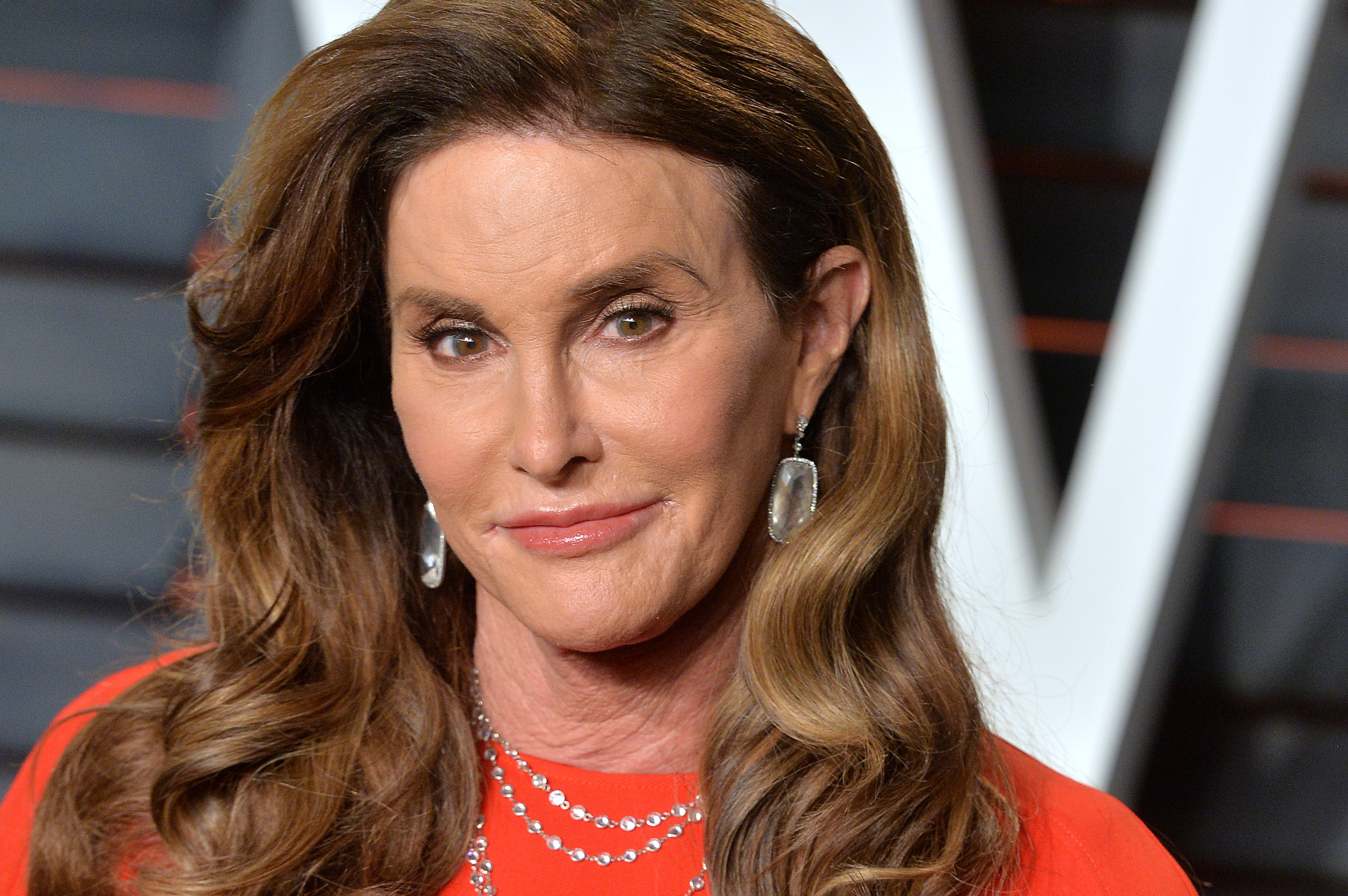 Caitlyn Jenner attends the 2016 Vanity Fair Oscar Party hosted By Graydon Carter at Wallis Annenberg Center for the Performing Arts on Feb. 28, 2016 in Beverly Hills, California.