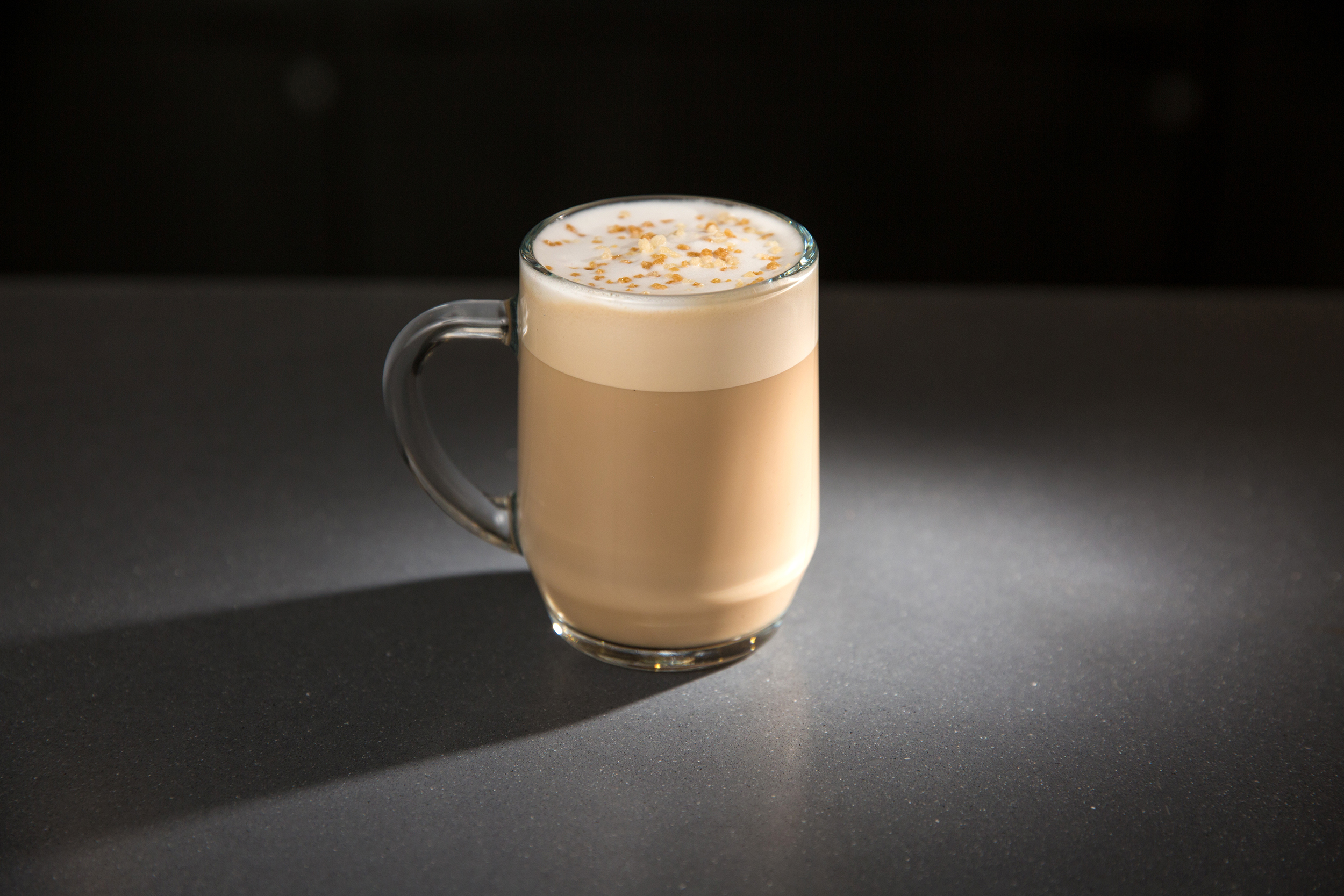 Starbucks Caramelized Honey Latte photographed on March 17, 2016.