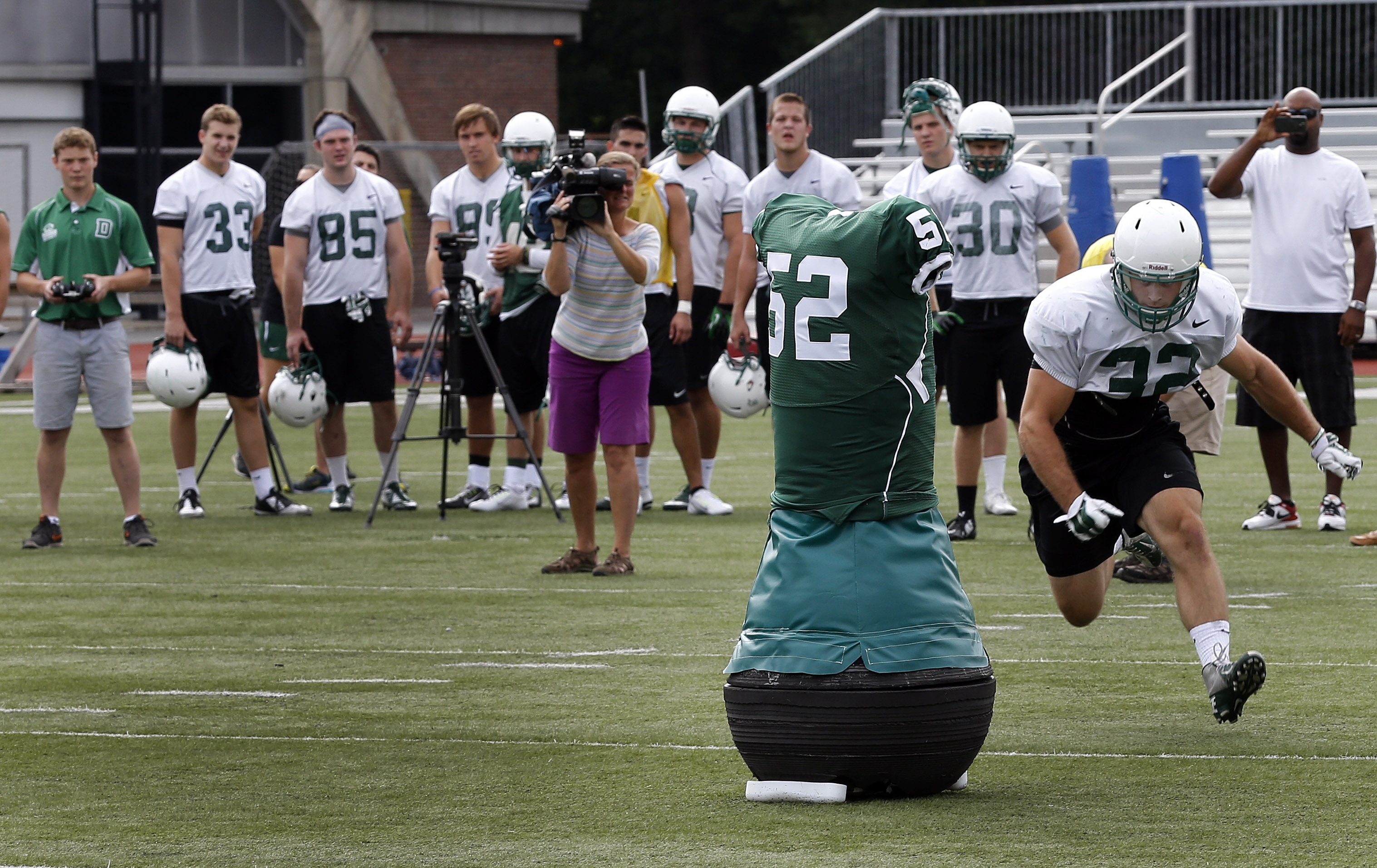 College football practice at Dartmouth in Hanover, NH on Aug. 26, 2015.