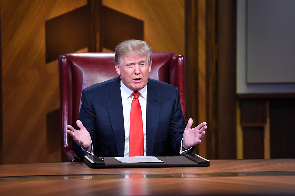 Donald Trump on a live finale of the television show  Celebrity Apprentice.