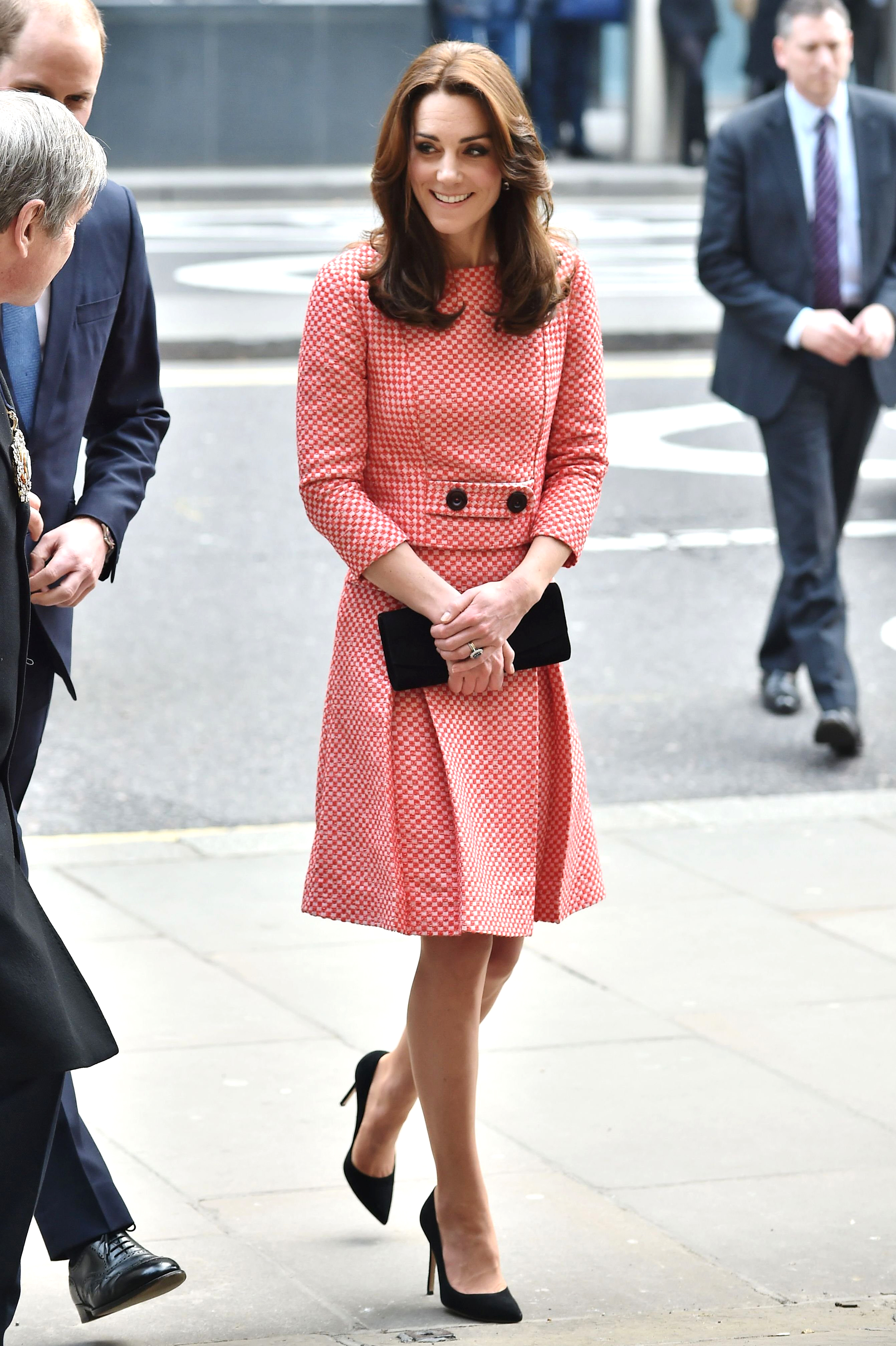Catherine Duchess of Cambridge                                   The Duke and Duchess of Cambridge visits the mentoring program of the XLP project in London on March 11, 2016.