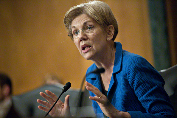 Sen. Elizabeth Warren, a Democrat from Massachusetts, questions Janet Yellen, chair of the U.S. Federal Reserve, not pictured, during a Senate Banking Committee hearing in Washington, D.C., on Feb. 11.