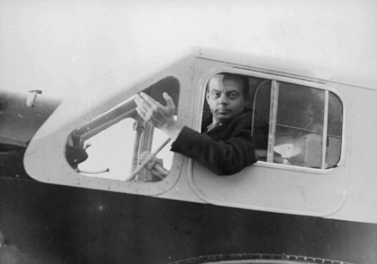circa 1935:  French airman and writer Antoine de Saint-Exupery (1900 - 1944), who was killed in a reconnaissance flight over North Africa during World War II.