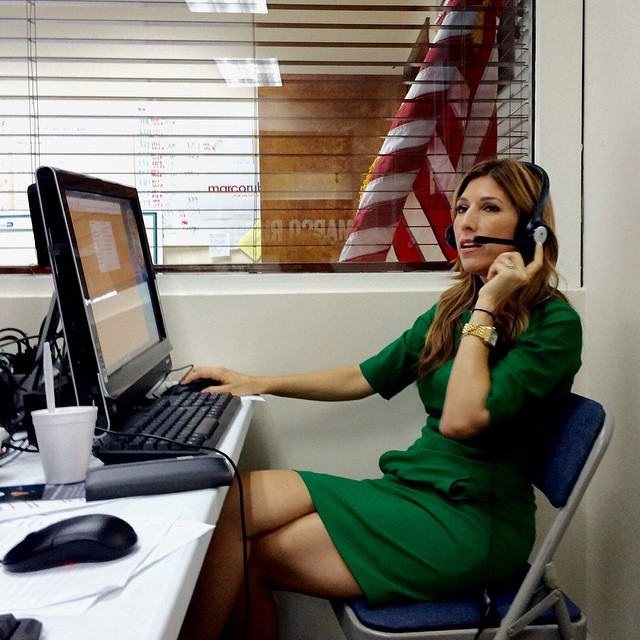 Jeanette Rubio makes last minute calls for support for her husband, Republican presidential candidate, Florida Sen. Marco Rubio, in Miami on March 15.