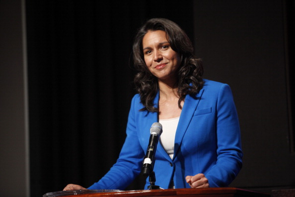 Tulsi Gabbard attends the 33rd Annual Women's Campaign Fund Parties of Your Choice Gala at Christie's Auction House in New York City on April 22, 2013.
