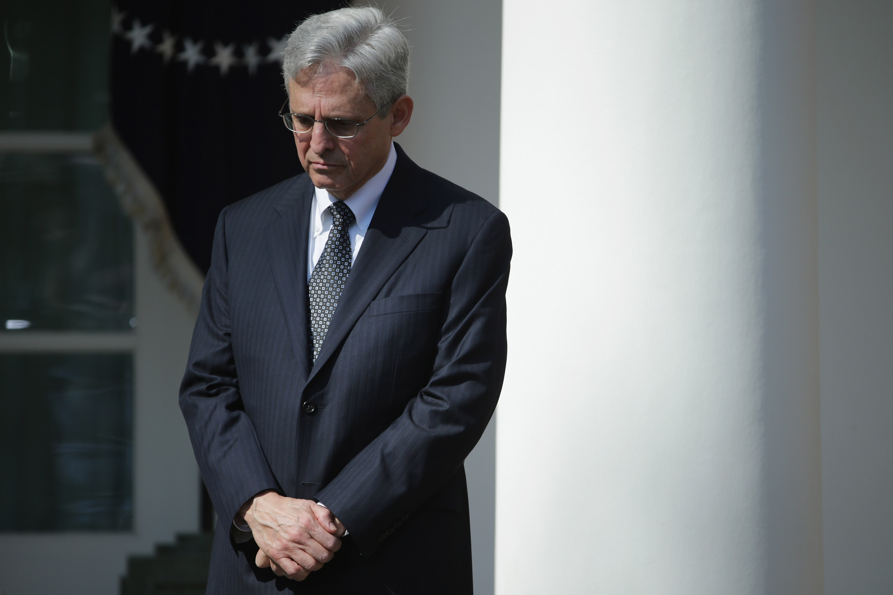 Judge Merrick Garland, U.S. President Barack Obama's nominee to replace the late Supreme Court Justice Antonin Scalia, is introduced in the Rose Garden at the White House in Washington, D.C., on March 16, 2016.