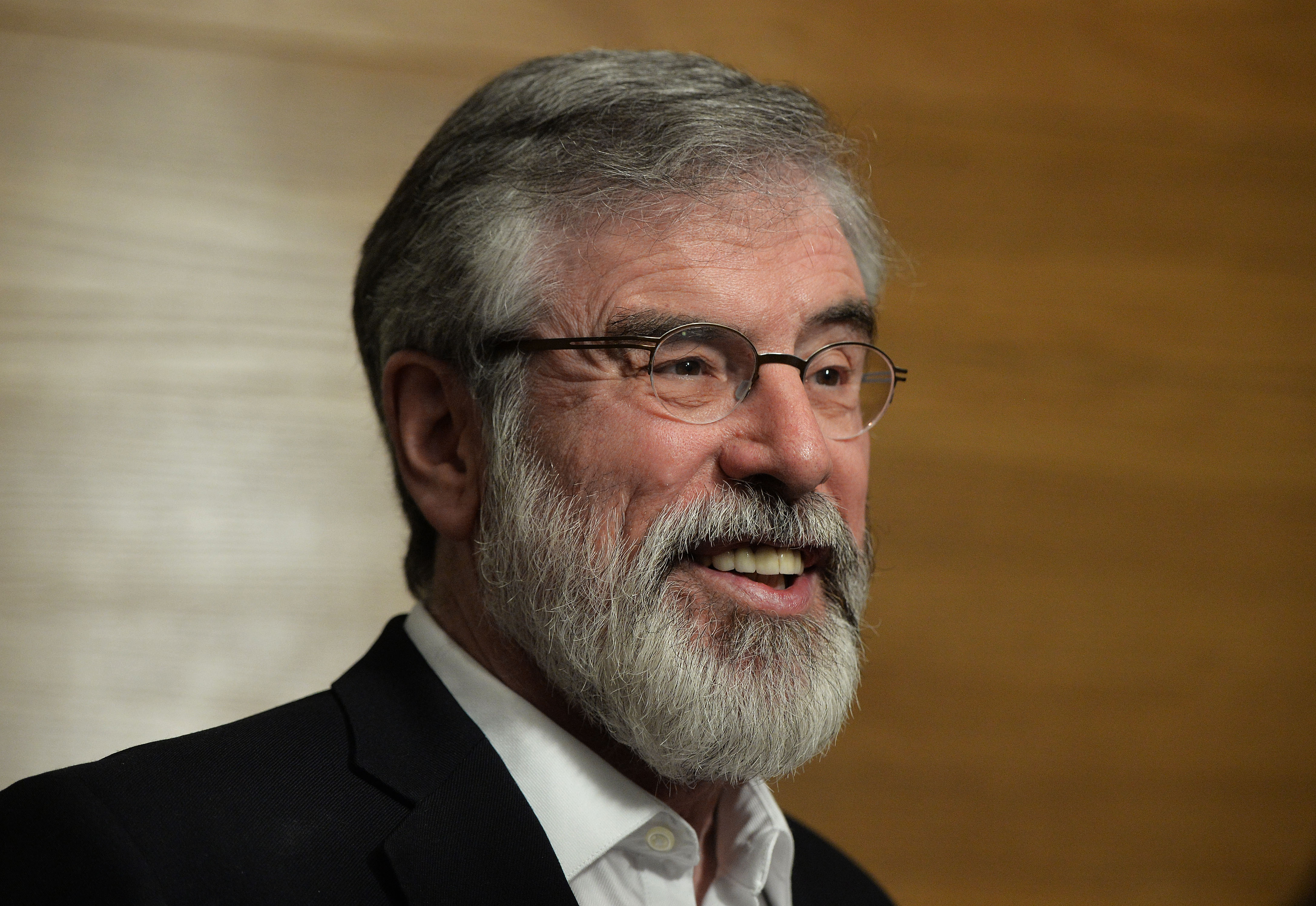 Sinn Fein's Gerry Adams after he was re-elected to government on February 28, 2016 in Dundalk, Ireland.