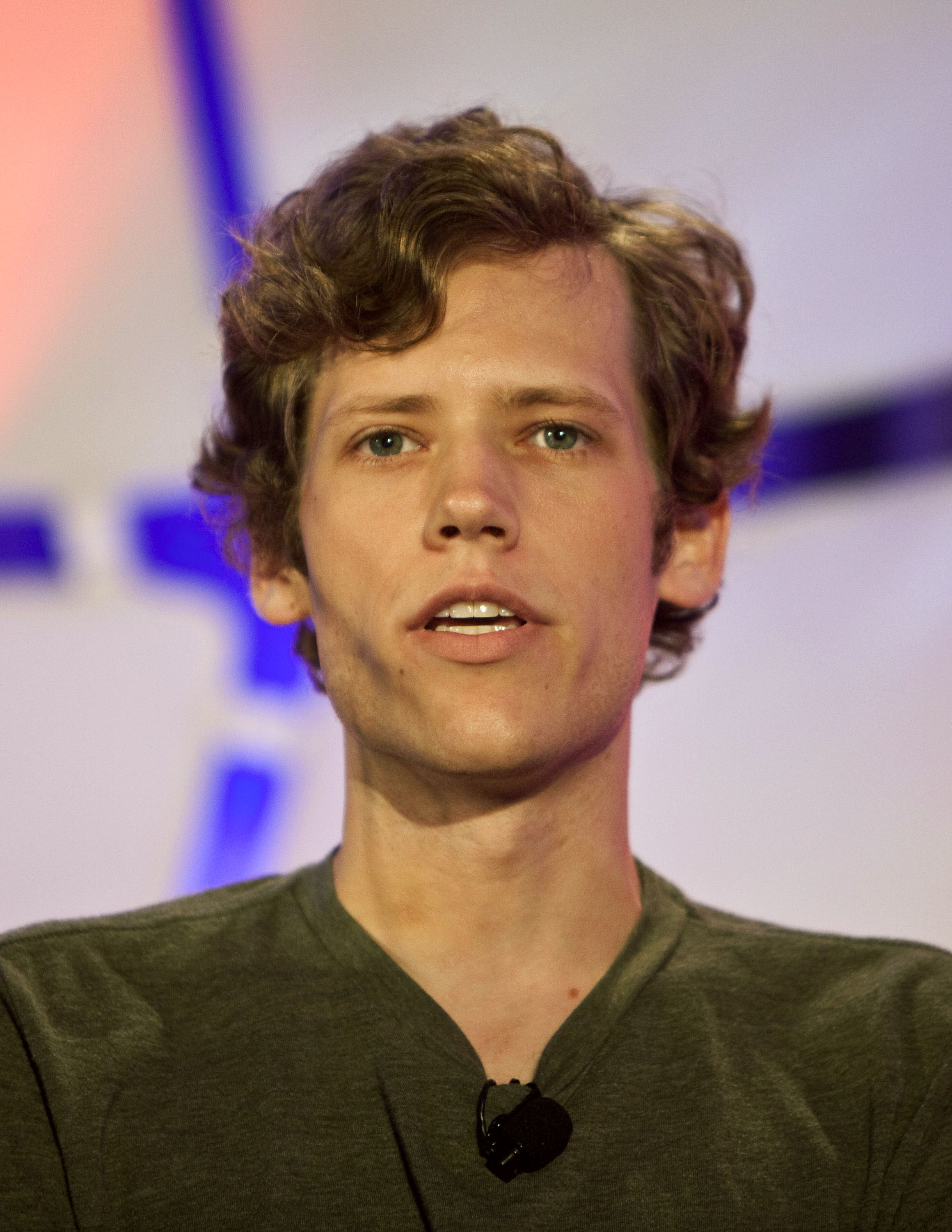 Christopher Poole, founder of 4chan, speaks during the TechCrunch Disrupt conference in New York, U.S., May 25, 2010