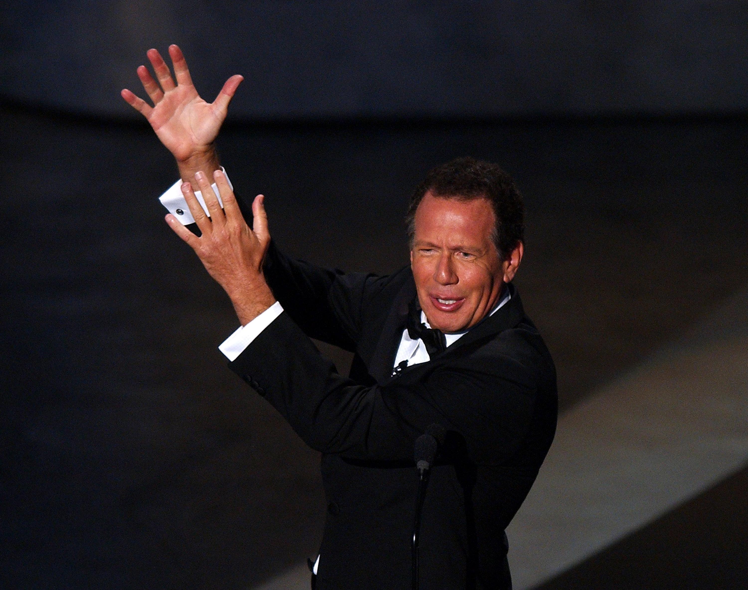 Garry Shandling, who died Mar. 24,  hosting the 56th Annual Primetime Emmy Awards in 2004