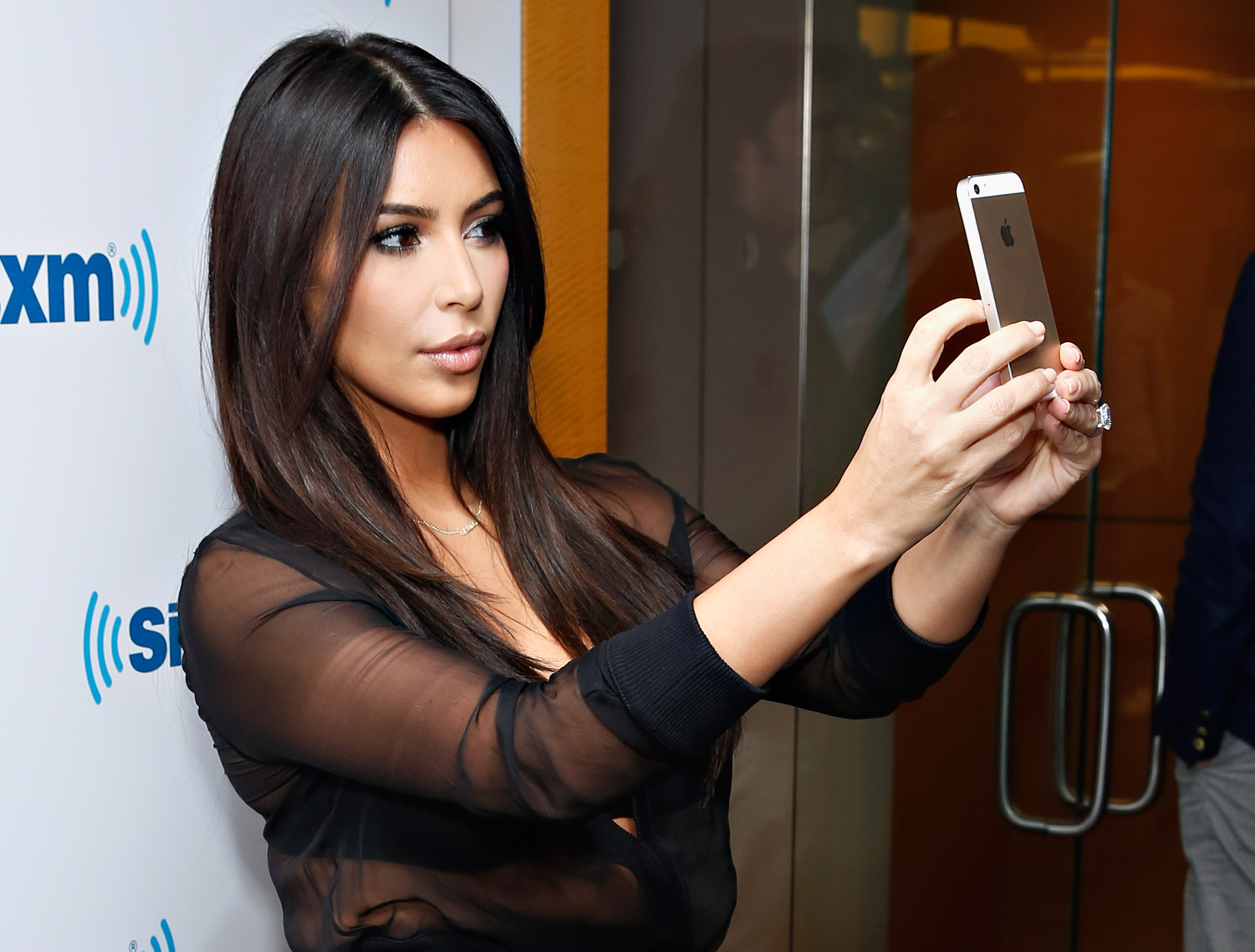 Kim Kardashian  at SiriusXM Studios on August 11, 2014 in New York.