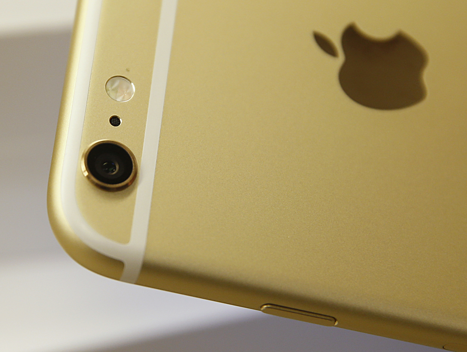 The camera and flash of an Apple iPhone 6 Plus gold, is shown here at a Verizon store on September 18, 2014 in Orem, Utah.