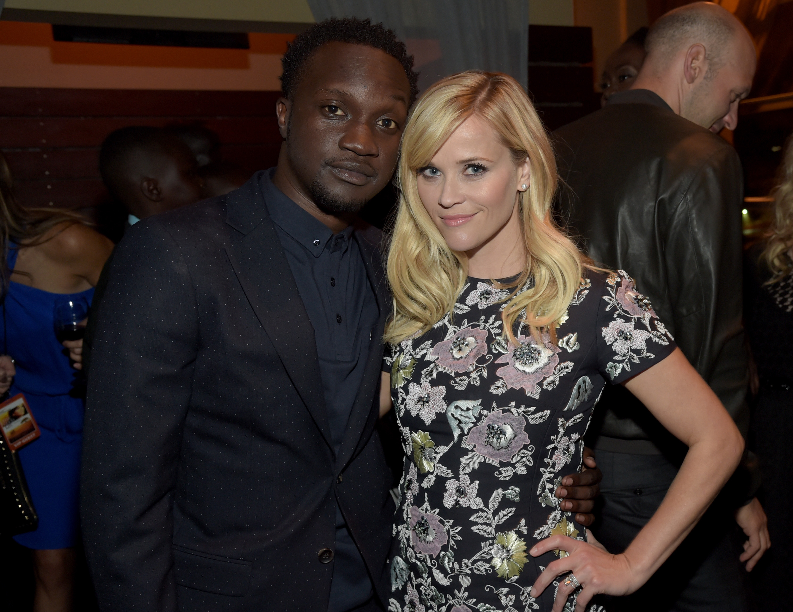 Actors Arnold Oceng and Reese Witherspoon attend  The Good Lie  after party at Cabana on Sept. 19, 2014 in Nashville, Tennessee.