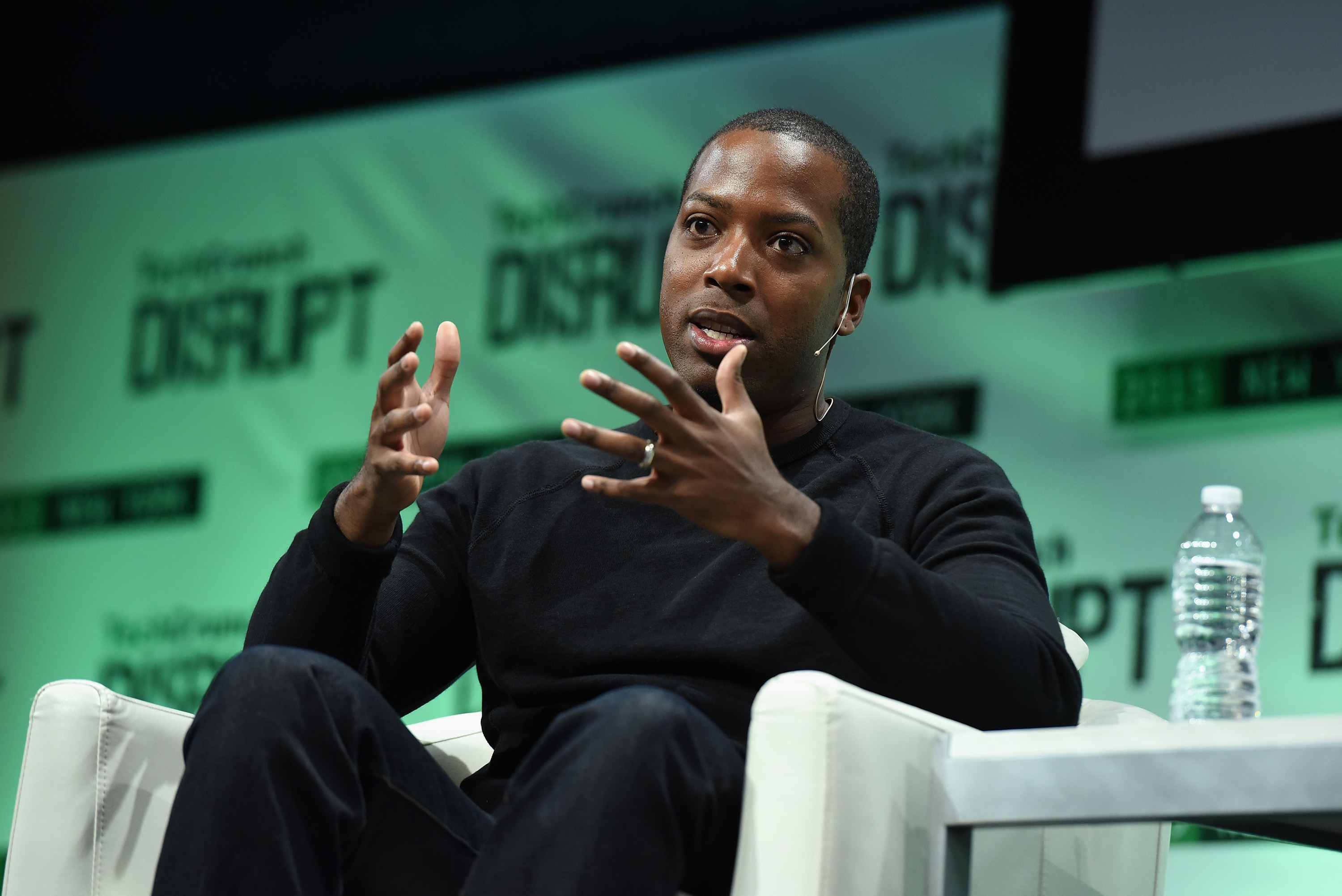 Founder and CEO of Walker & Company Brands, Tristan Walker speaks onstage during TechCrunch Disrupt NY 2015