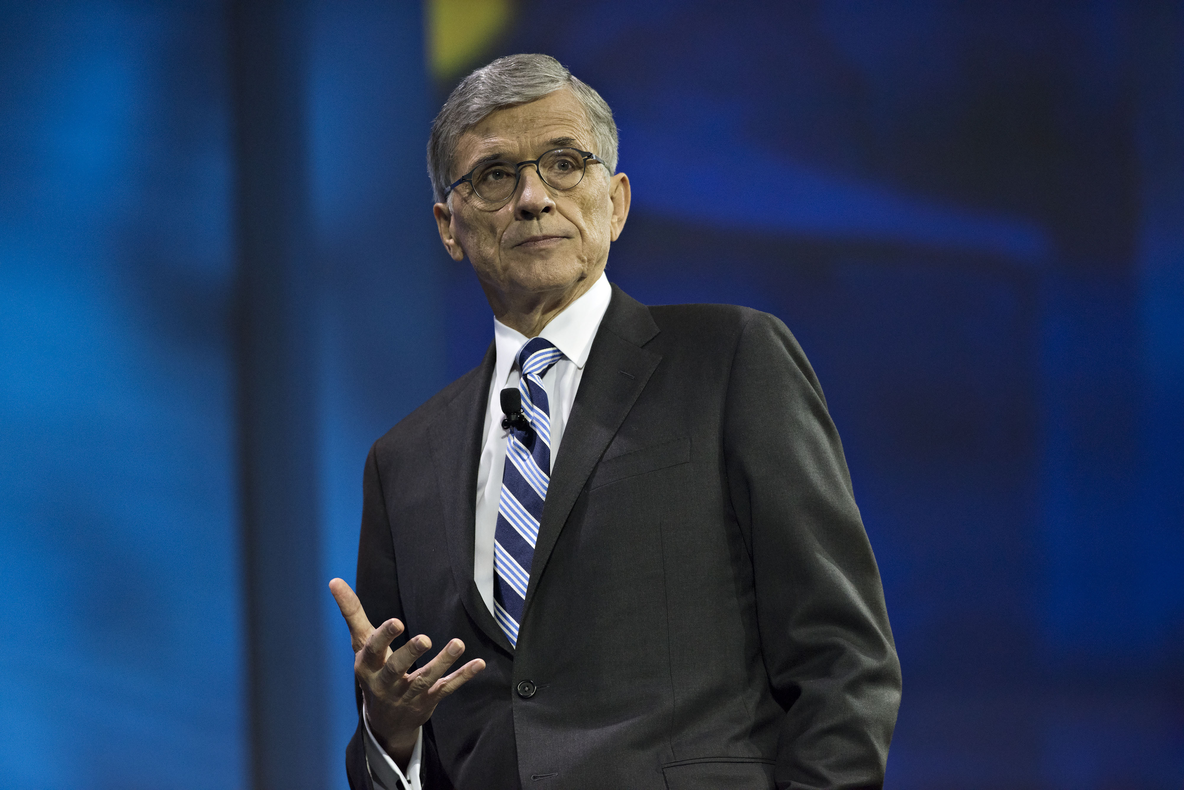 Thomas  Tom  Wheeler, chairman of the U.S. Federal Communications Commission (FCC), speaks at INTX: The Internet & Television Expo in Chicago, Illinois, U.S., on Wednesday, May 6, 2015.