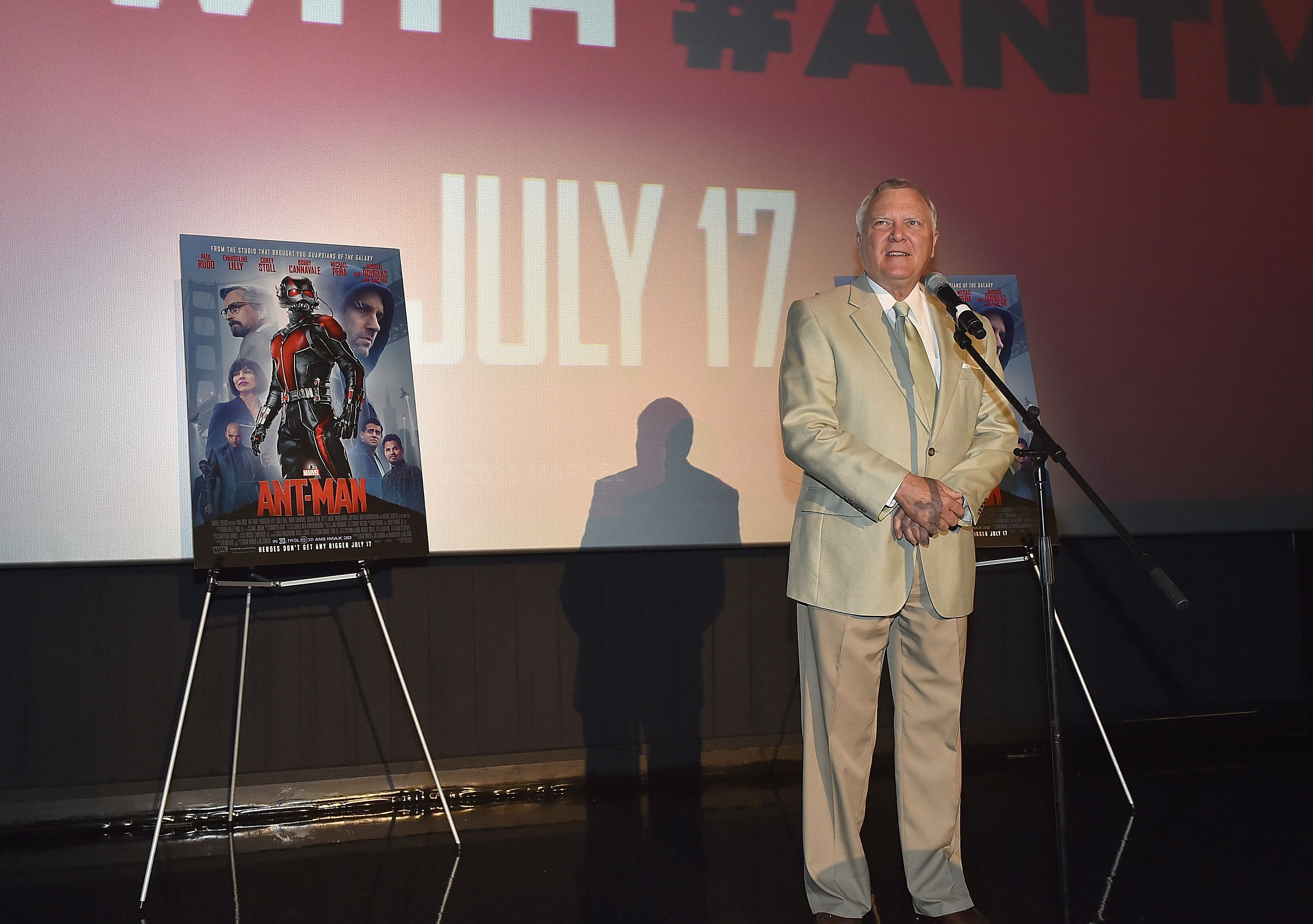 Georgia Governor Nathan Deal speaks onstage at  Ant-Man  Atlanta Cast And Crew Screening at Regal Atlantic Station 18 on July 12, 2015 in Atlanta, Georgia.
