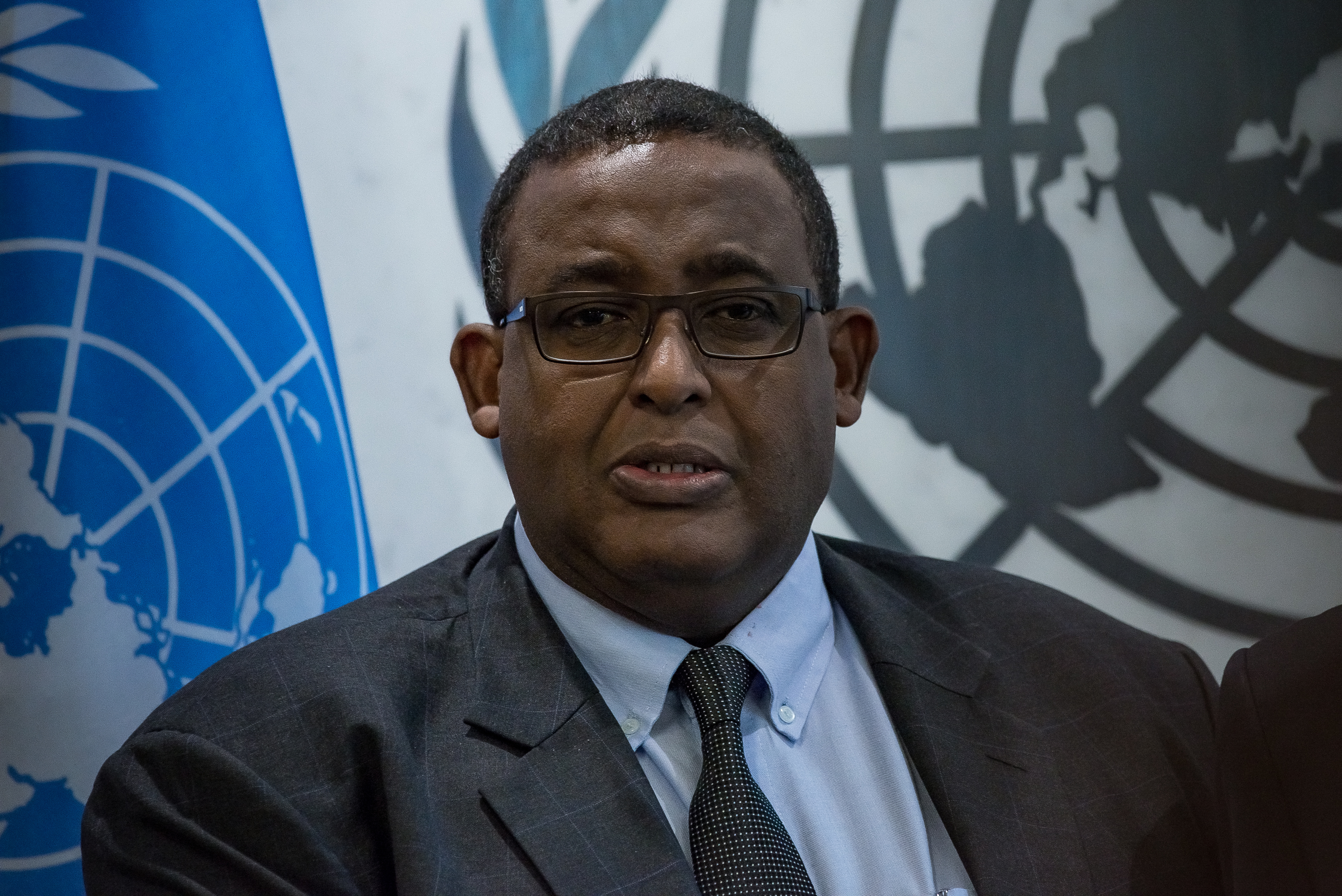 Somalian Prime Minister Omar Abdirashid Ali Sharmarke at the United Nations on October 1, 2015.