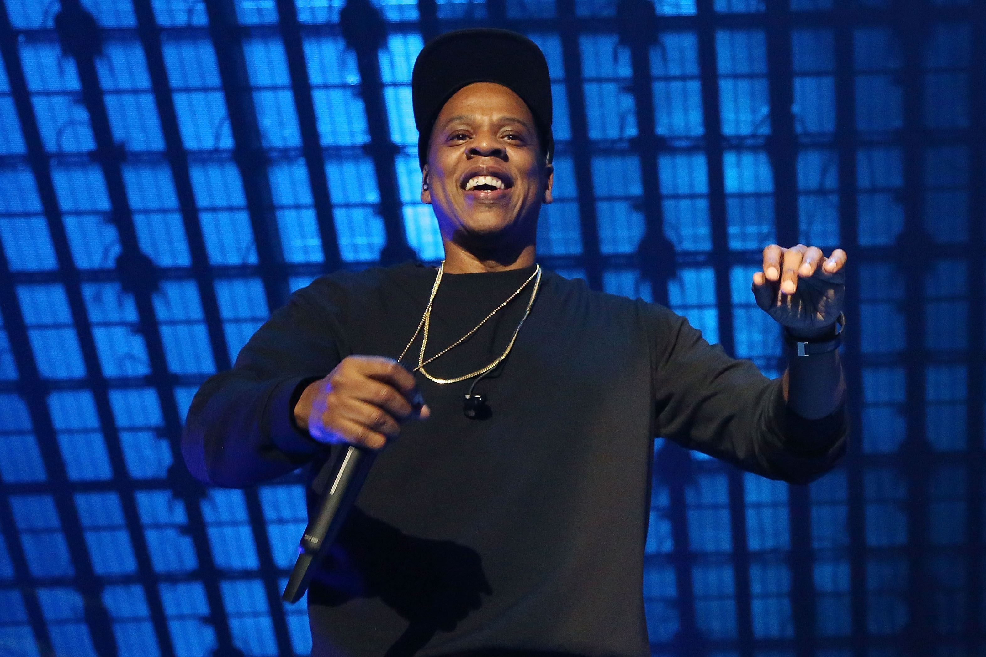 Jay Z performs during Tidal X: 1020 at Barclays Center on October 20, 2015 in the Brooklyn borough of New York City.