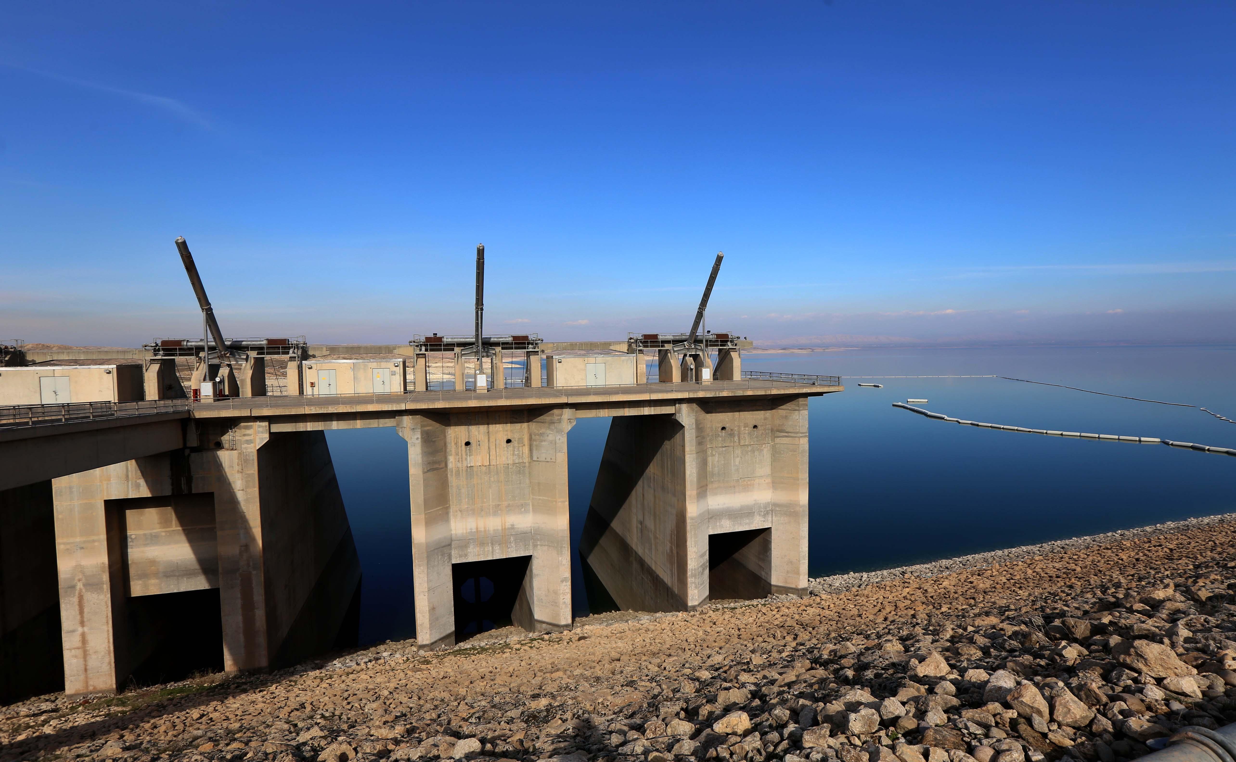 Mosul Dam on the Tigris River, around 50 km north of the Iraqi city of Mosul, Feb. 1, 2016