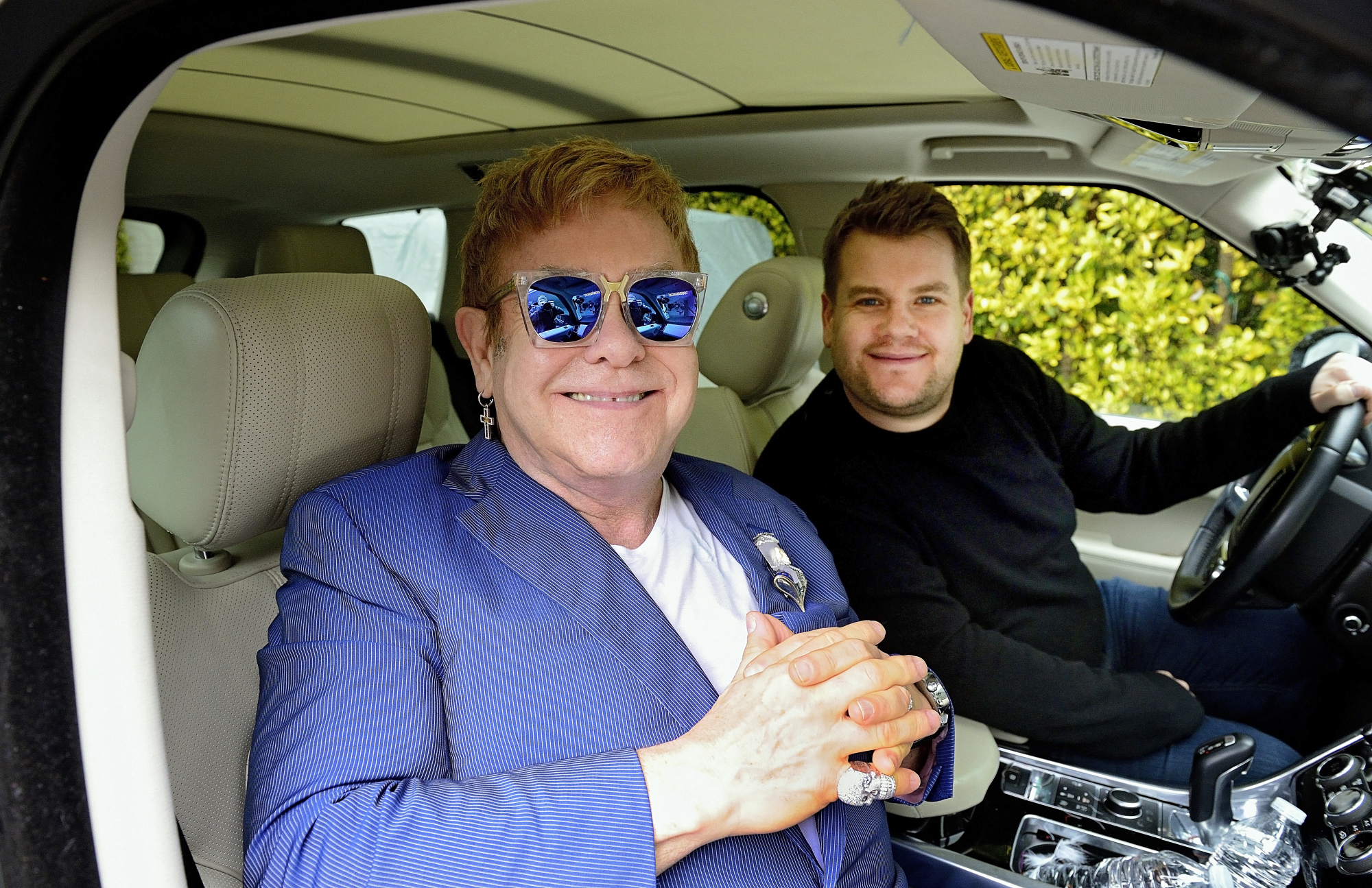 Elton John joins James Corden for Carpool Karaoke on  The Late Late Show with James Corden,  Feb. 7th, 2016