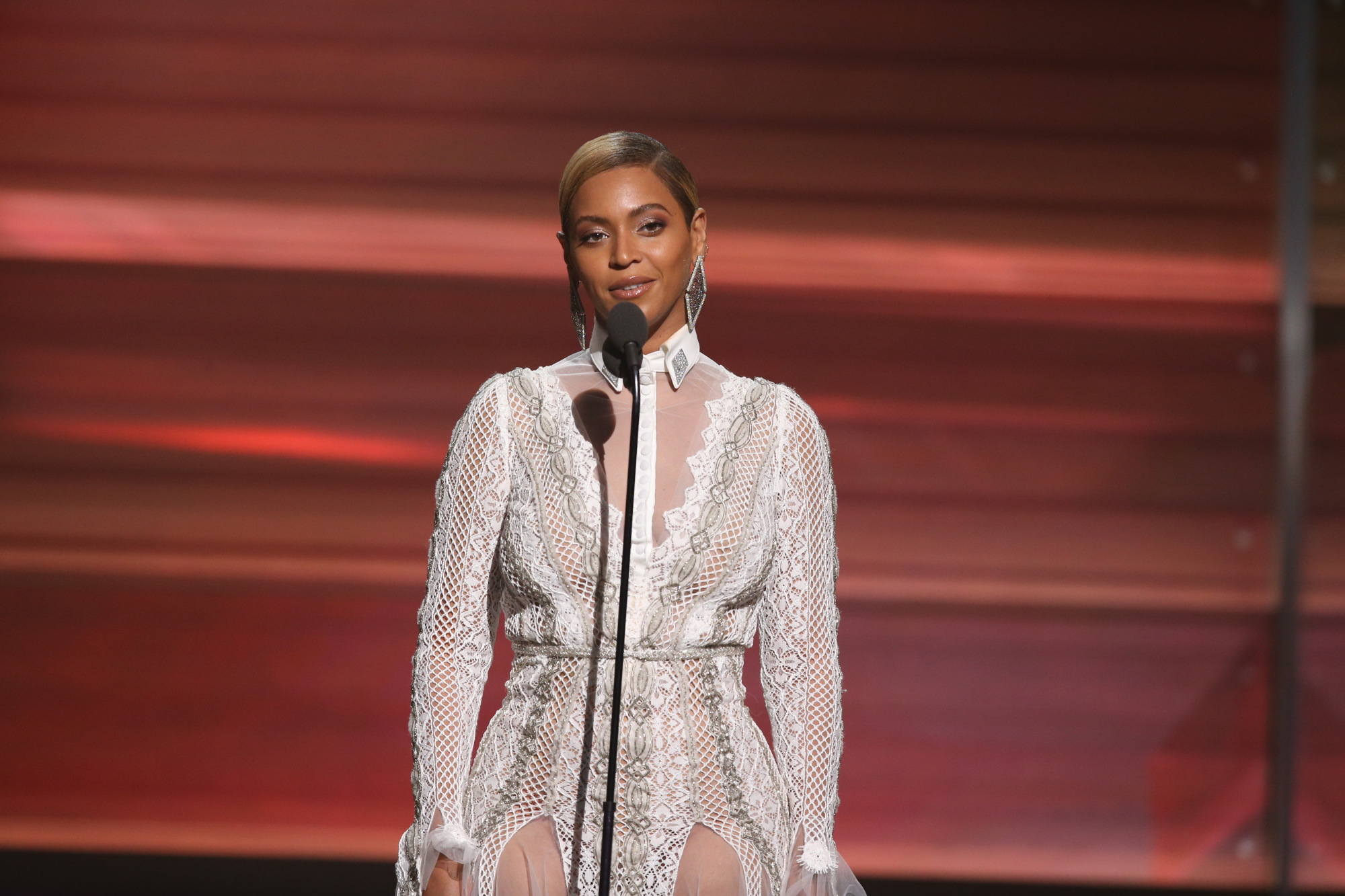 LOS ANGELES - FEBRUARY 15: Beyonce during THE 58TH ANNUAL GRAMMY AWARDS, Monday, Feb. 15, 2016 (8:00-11:30 PM, live ET) at STAPLES Center in Los Angeles and broadcast on the CBS Television Network. (Photo by Cliff Lipson/CBS via Getty Images)
