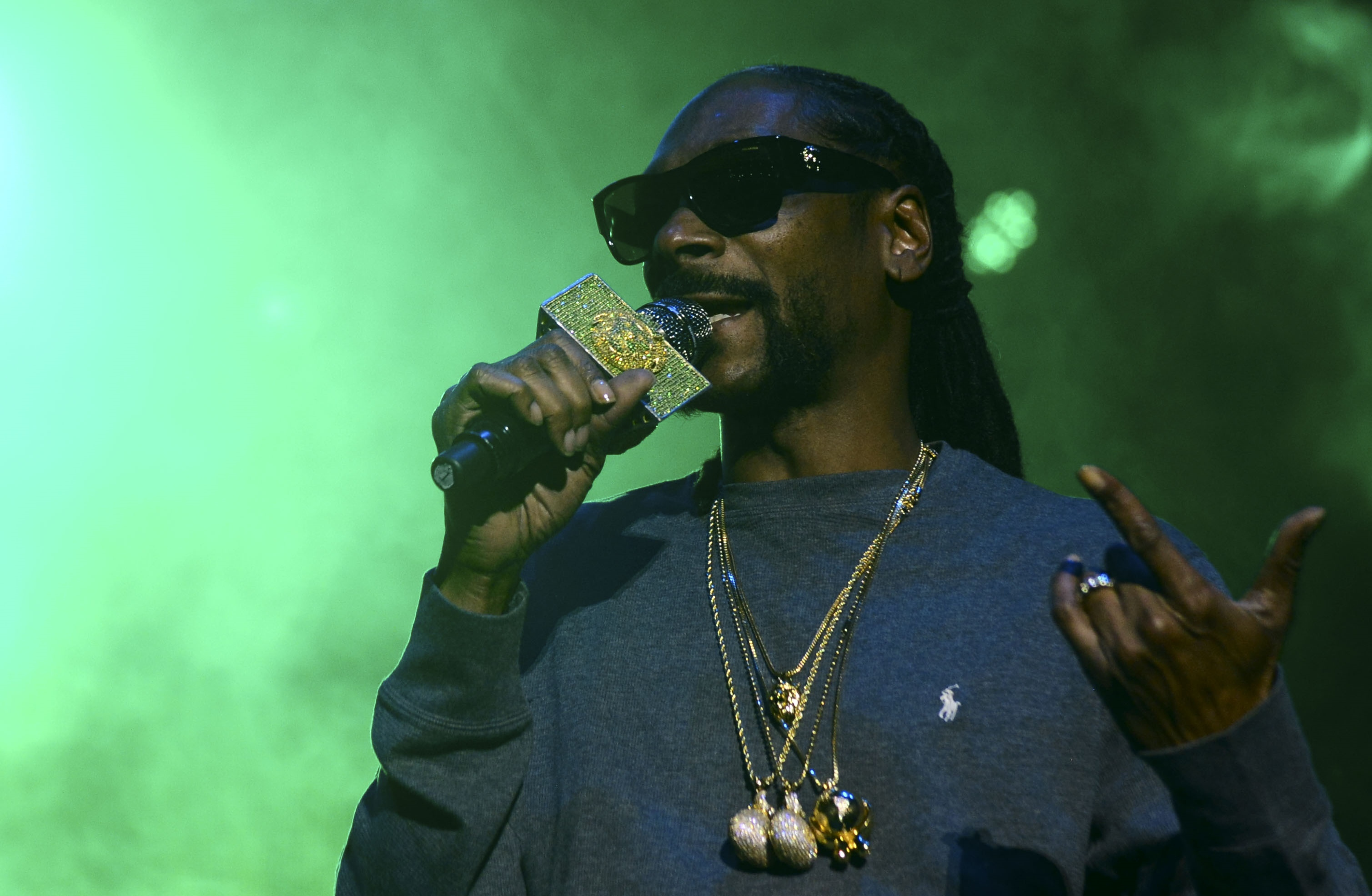 Rapper Snoop Dogg performs at Macarena bullring in Medellin, Antioquia department, Colombia on March 11.