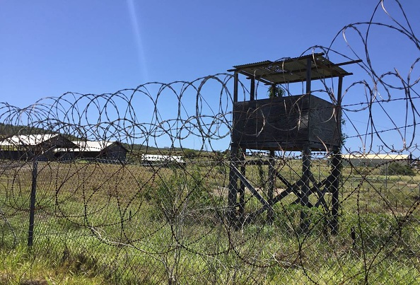 Nature reclaims the US militarys  Camp X-Ray at Guantanamo Bay Naval base on March 9, 2016, in Guantanamo Bay, Cuba.                        The infamous holding center closed 14 years ago and inmates were moved to more permanent facilities. Despite more than seven years of attempts by US President Barack Obama, Guantanamo Bay will likely remain a detention center for years to come. / AFP / Thomas WATKINS        (Photo credit should read THOMAS WATKINS/AFP/Getty Images)