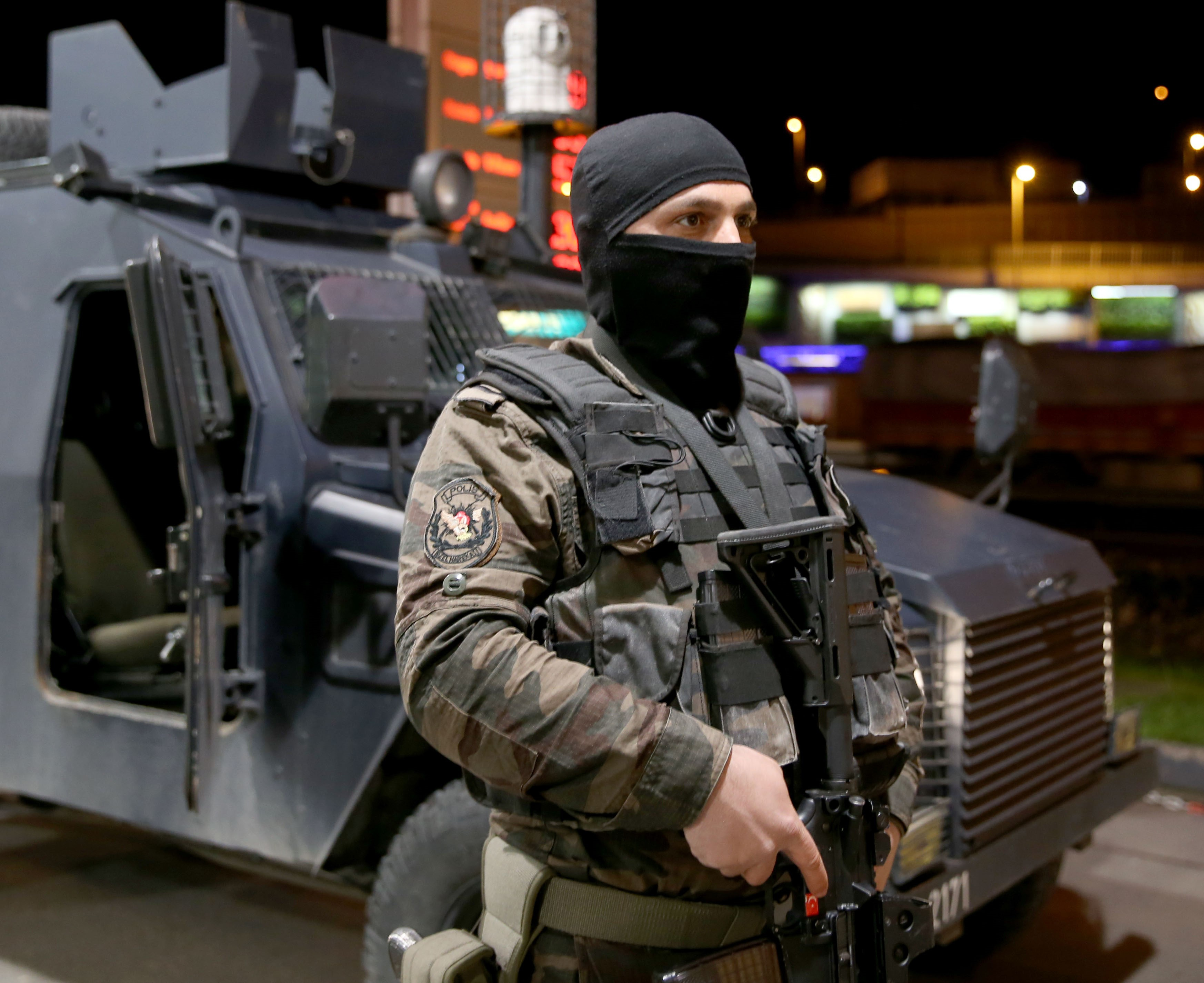 Istanbul Police Department's Anti-Terrorism Unit conduct a riot and special operation supported anti-terror operation in 16 districts in Istanbul, Turkey, March 16, 2016