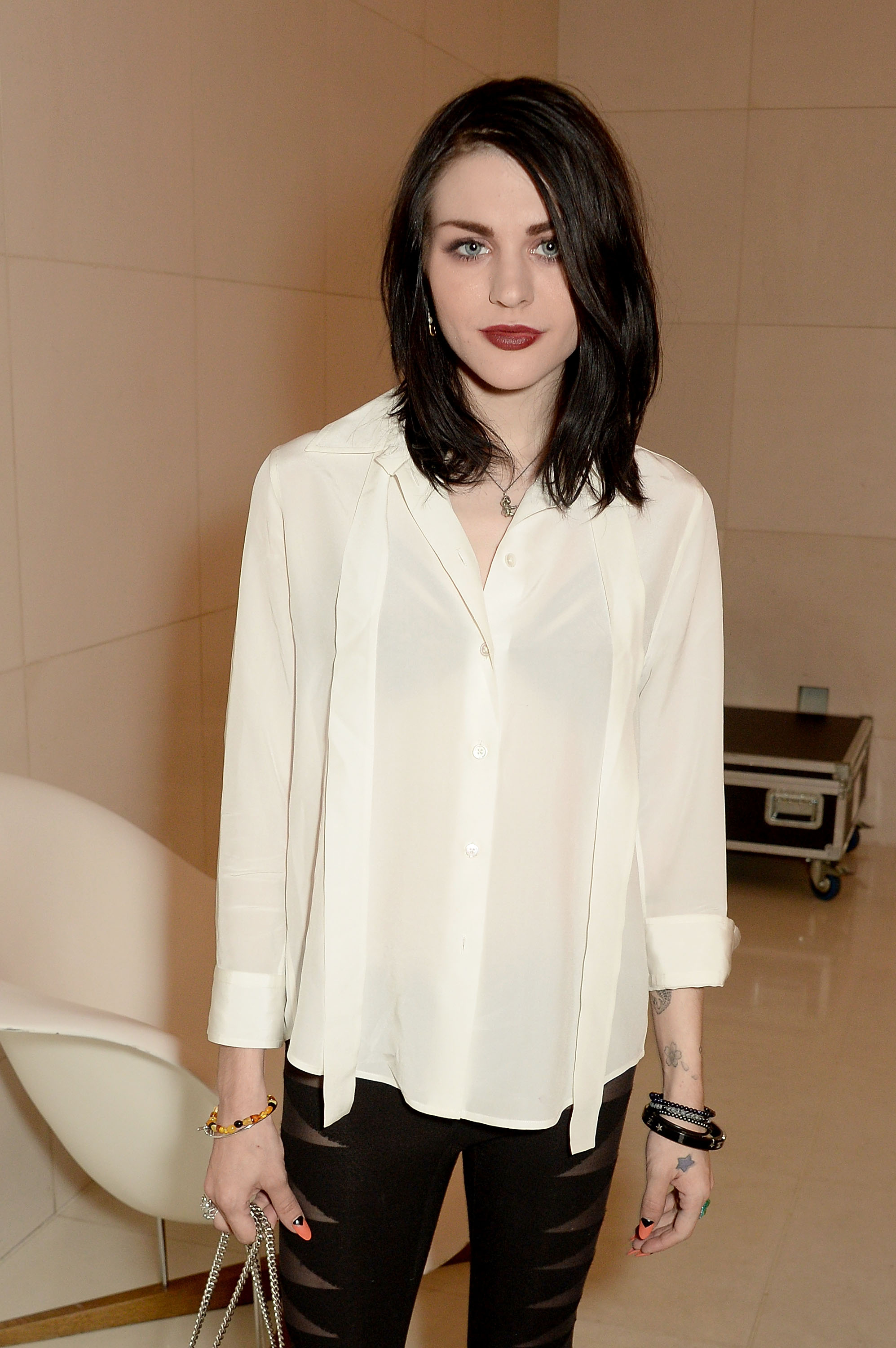 Frances Bean Cobain attends a special In Conversation event with Courtney Love as part of the Liberatum 'Women in Creativity' series, March 21, 2016 in London, England