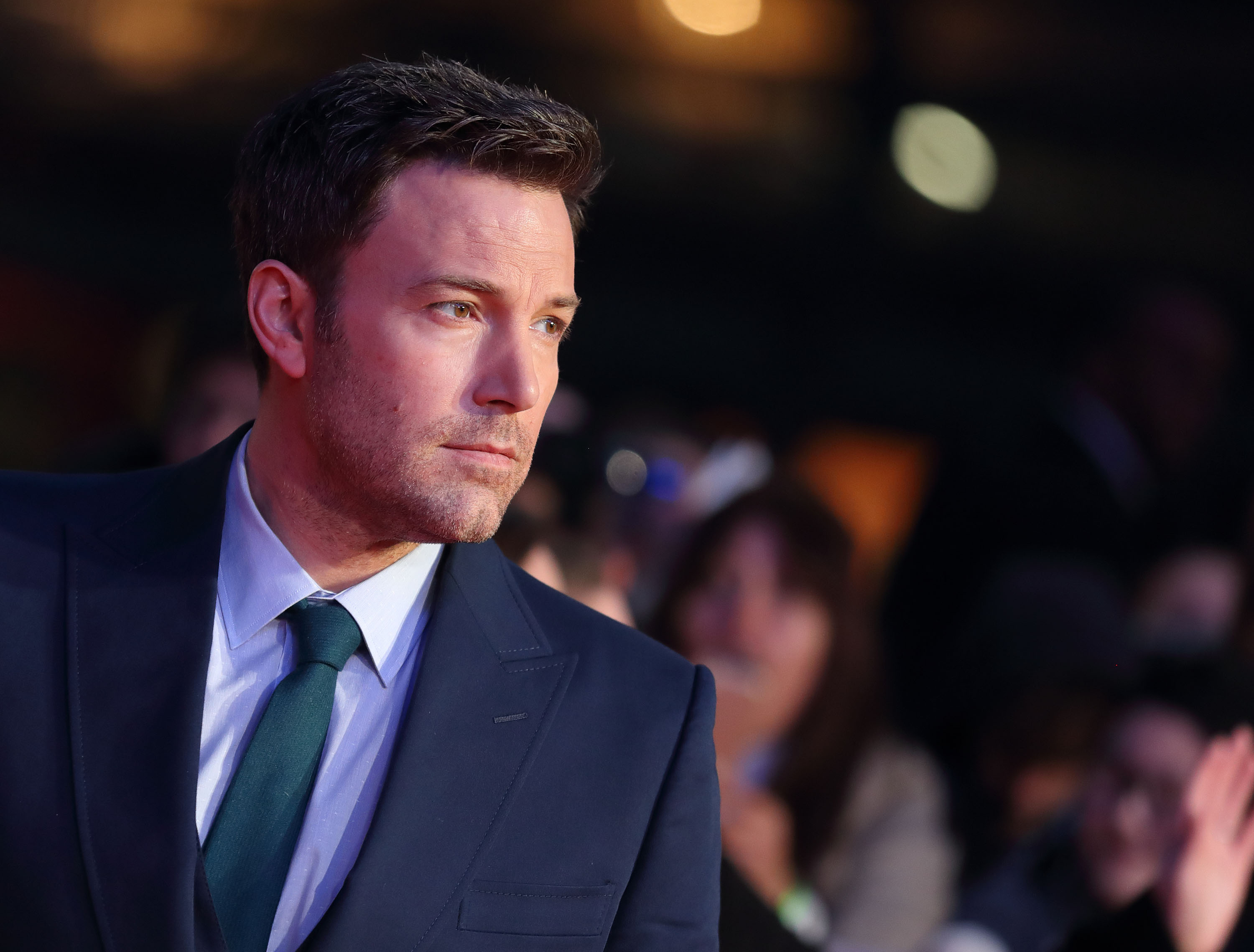 Ben Affleck arrives for the European Premiere of 'Batman V Superman: Dawn Of Justice' at Odeon Leicester Square, March 22, 2016 in London, England