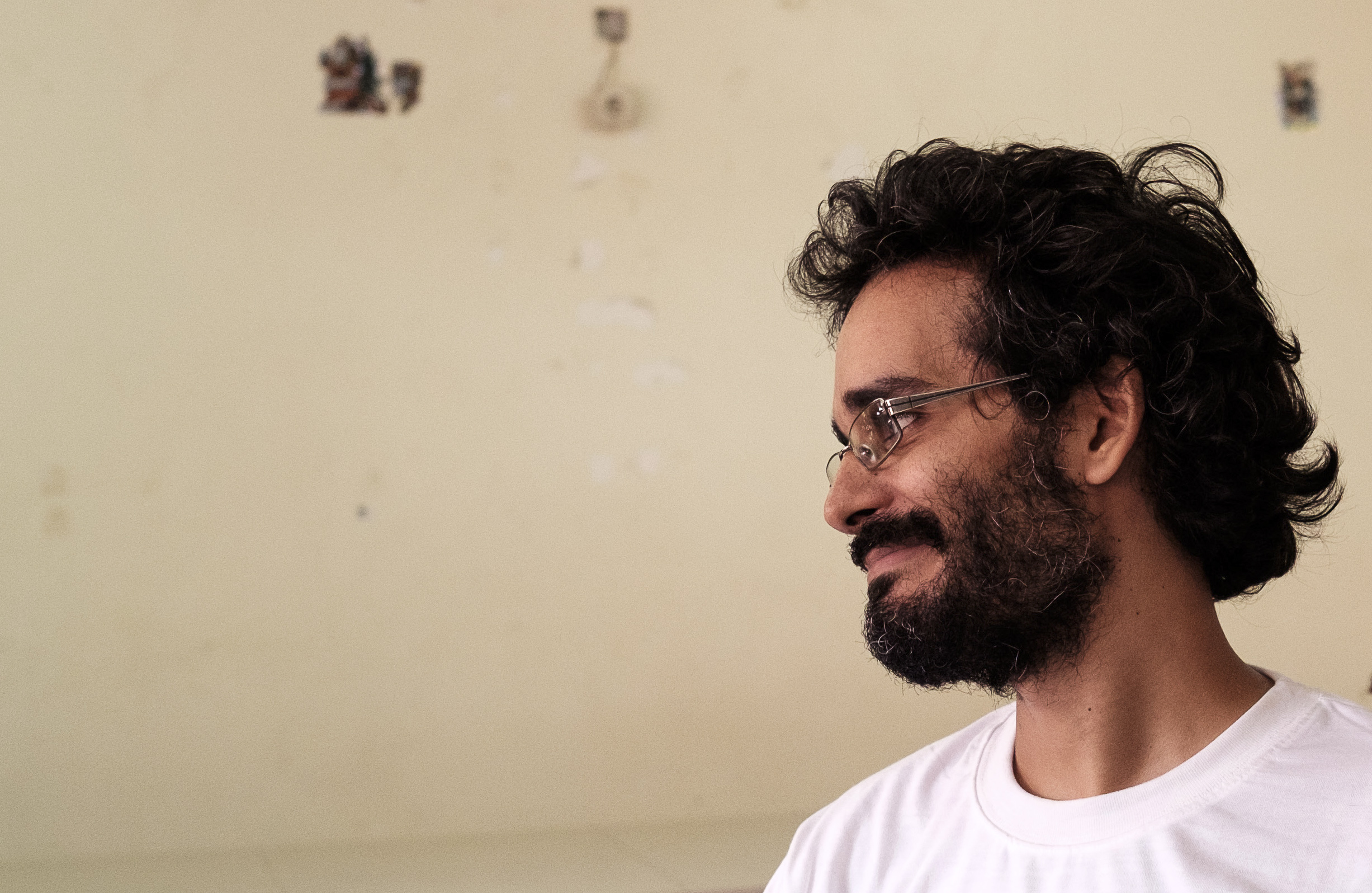Luaty Beirão, an Angolan political prisoner, who was on a long hunger strike in São Paulo Hospital Prison in Luanda, Angola, on Dec. 18, 2015