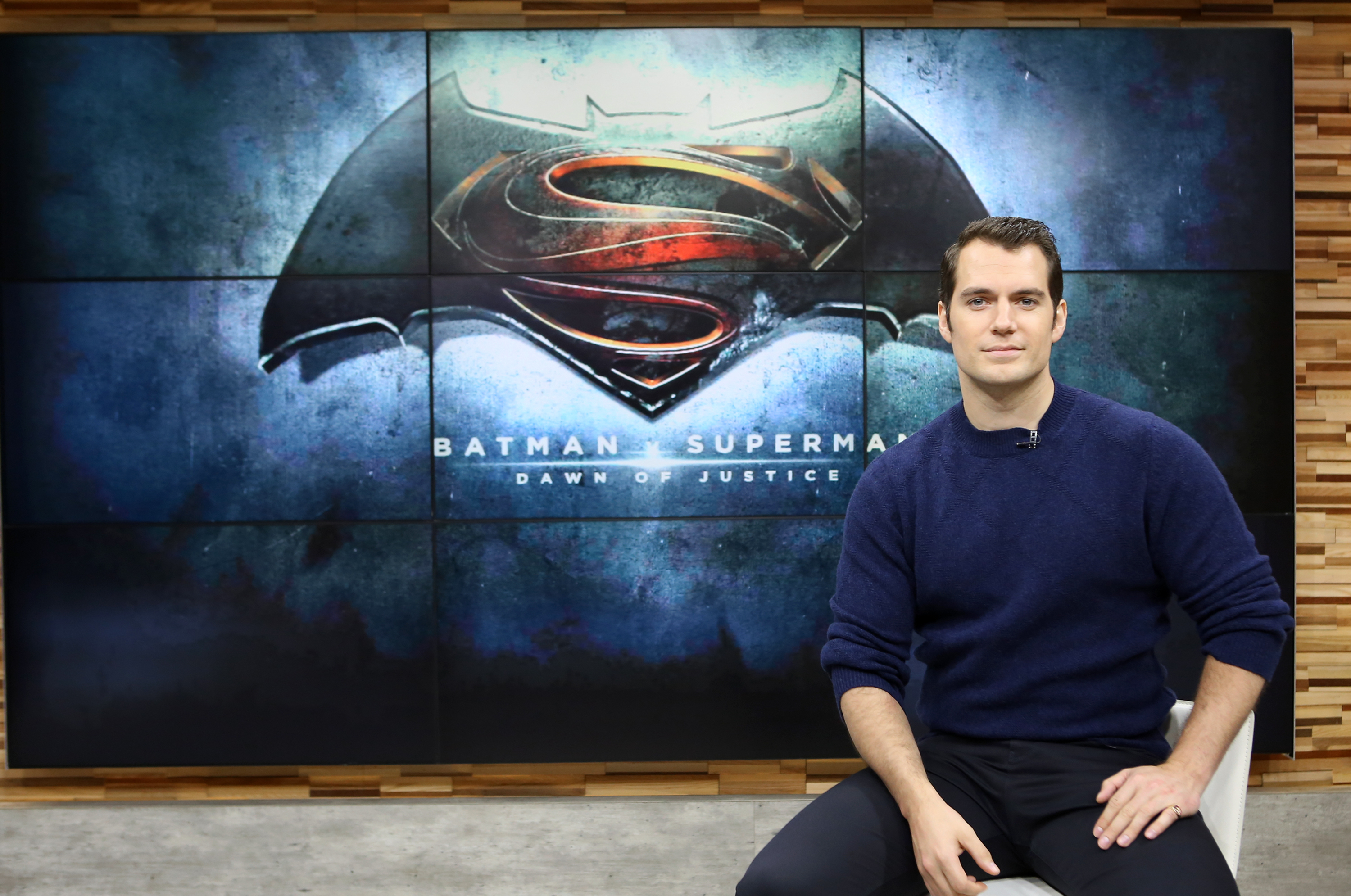 Henry Cavill is a guest on 'Good Morning America,' 3/11/16, airing on the ABC Television Network.