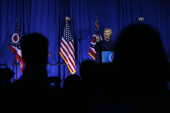 Democratic presidential candidate, former Secretary of State Hillary Clinton speaks during the Ohio Democratic Party Legacy Dinner on March 13, 2016 in Columbus, Ohio.