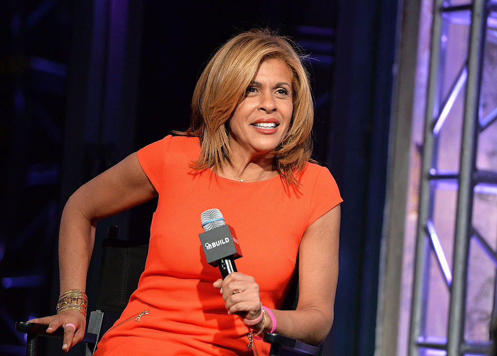 Today  host Hoda Kotb discusses her book  Where We Belong: Journey's that Show Us the Way  on Jan. 6, 2016 in New York City.