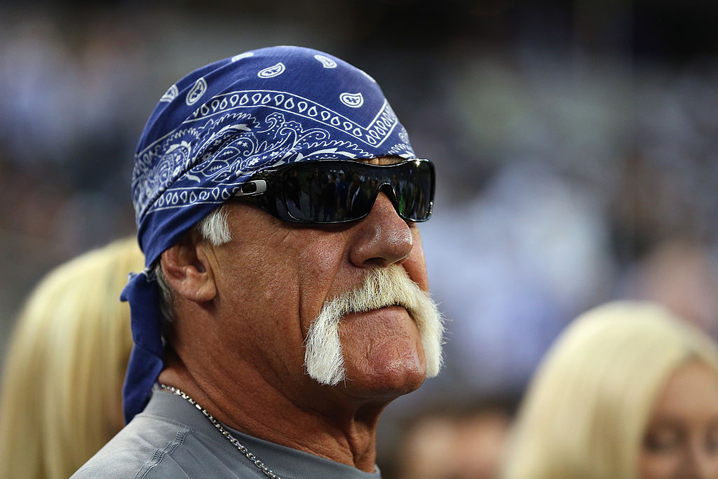 Hulk Hogan at AT&T Stadium before a game between the New York Giants and the Dallas Cowboys on Sept. 8, 2013 in Arlington, Texas.